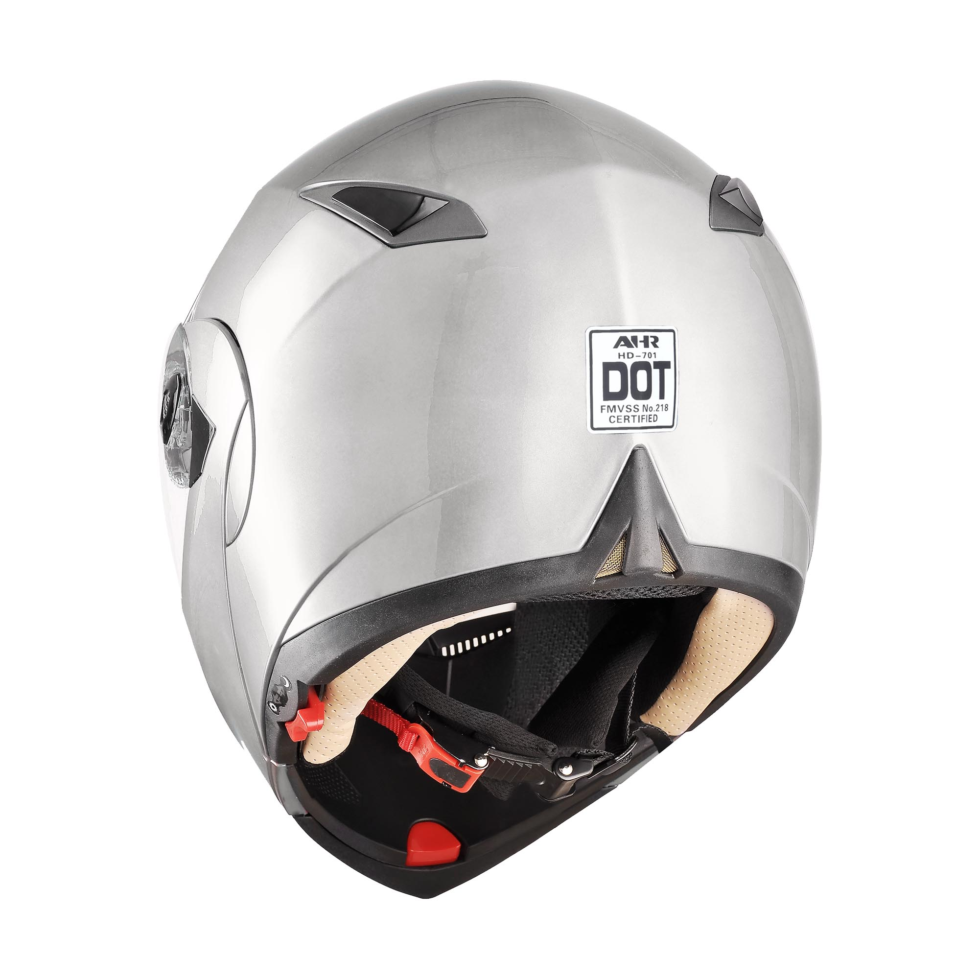 miniature 178 - DOT Flip up Modular Full Face Motorcycle Helmet Dual Visor Motocross Size Opt