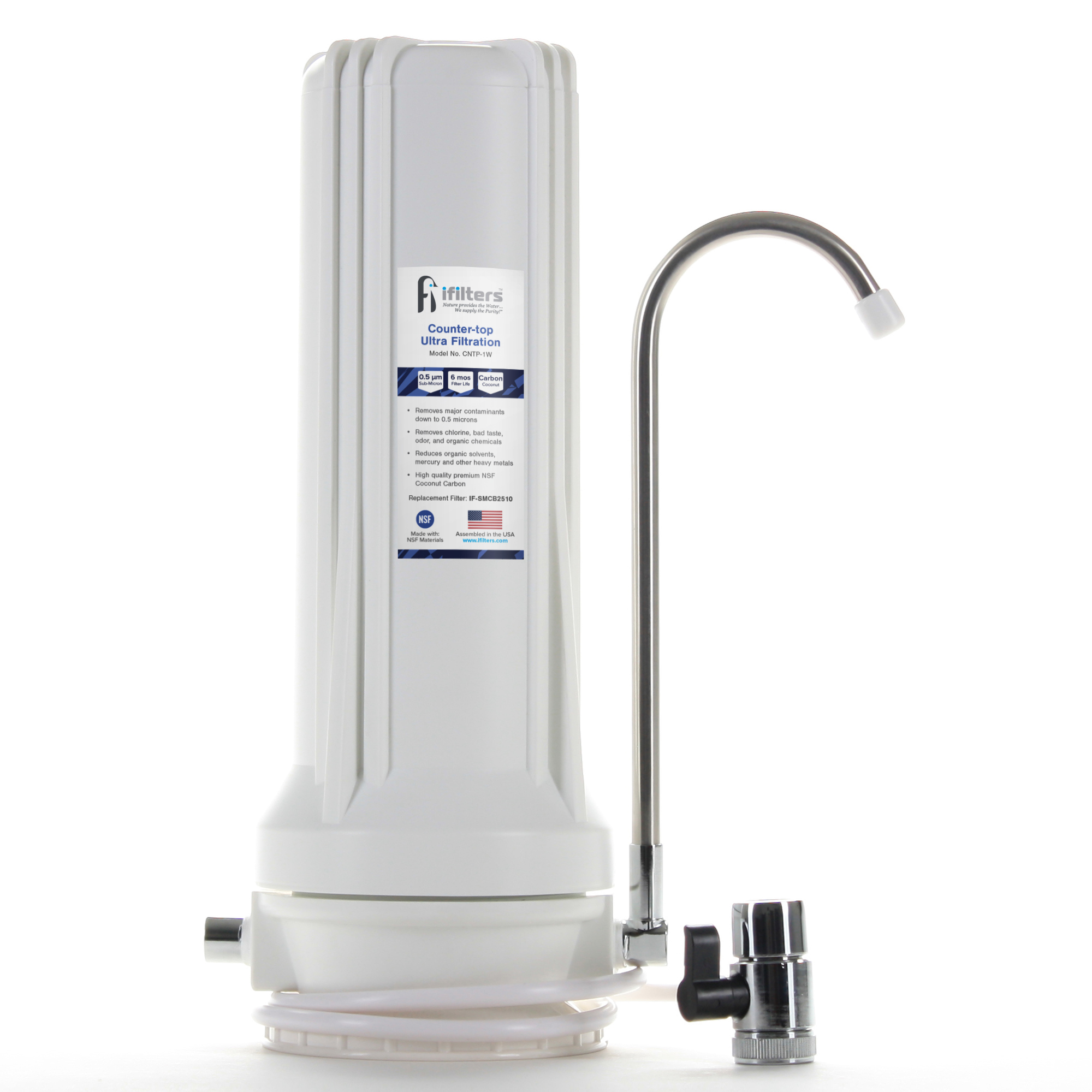 Giardia Countertop Ultra Drinking Water Filter VOCs Cysts Pesticides Chlorine