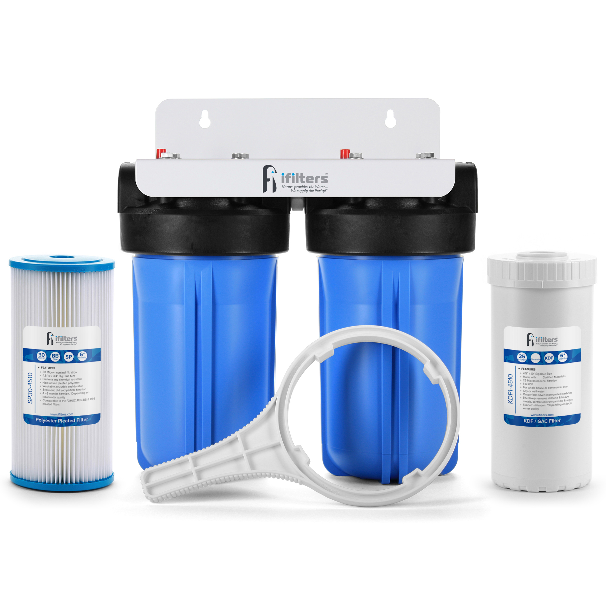 Details about Well Water Filtration System Sediment Odor Taste Rust Whole  House, 1
