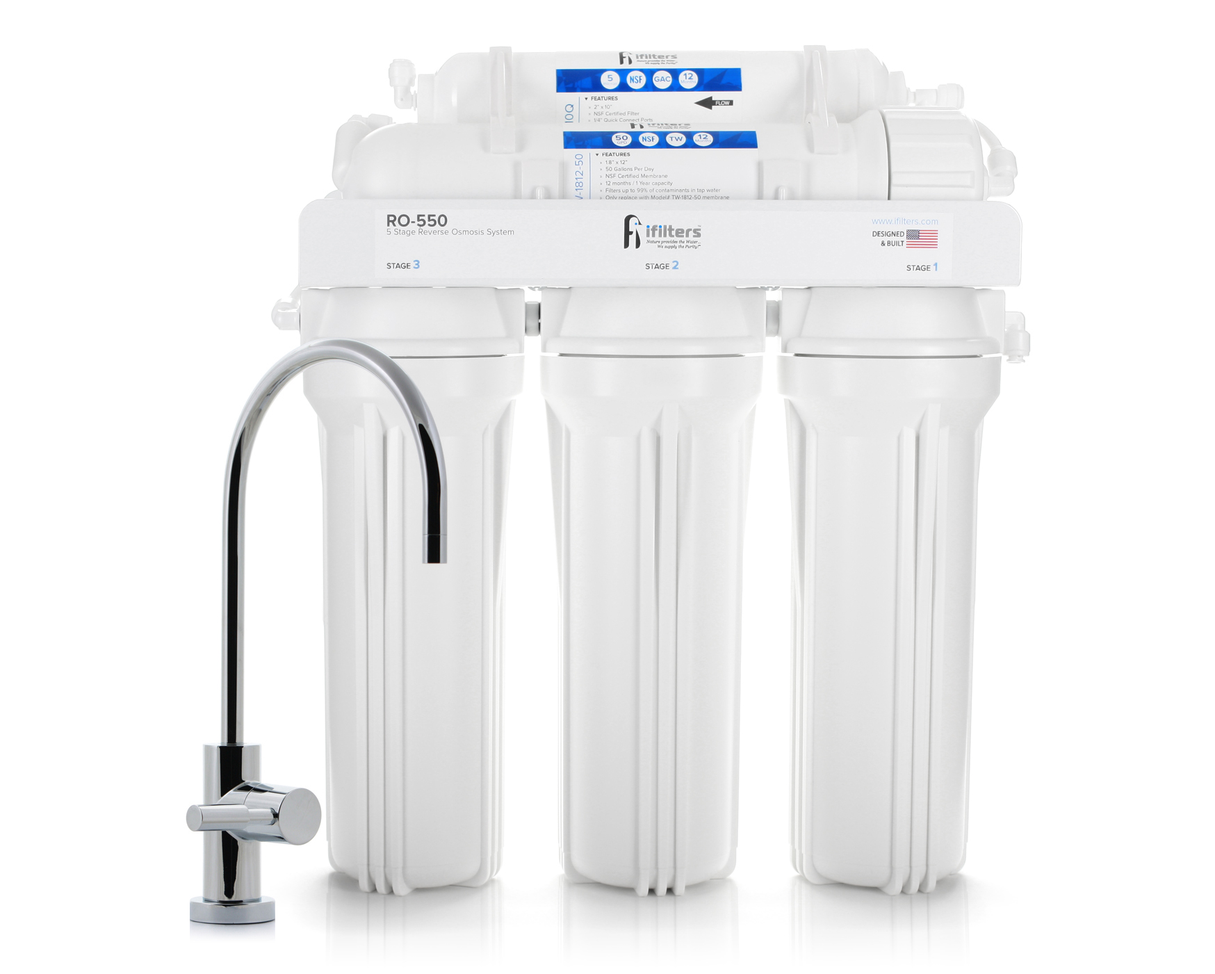 Reverse Osmosis Replacement Filters for 5 Stage RO550
