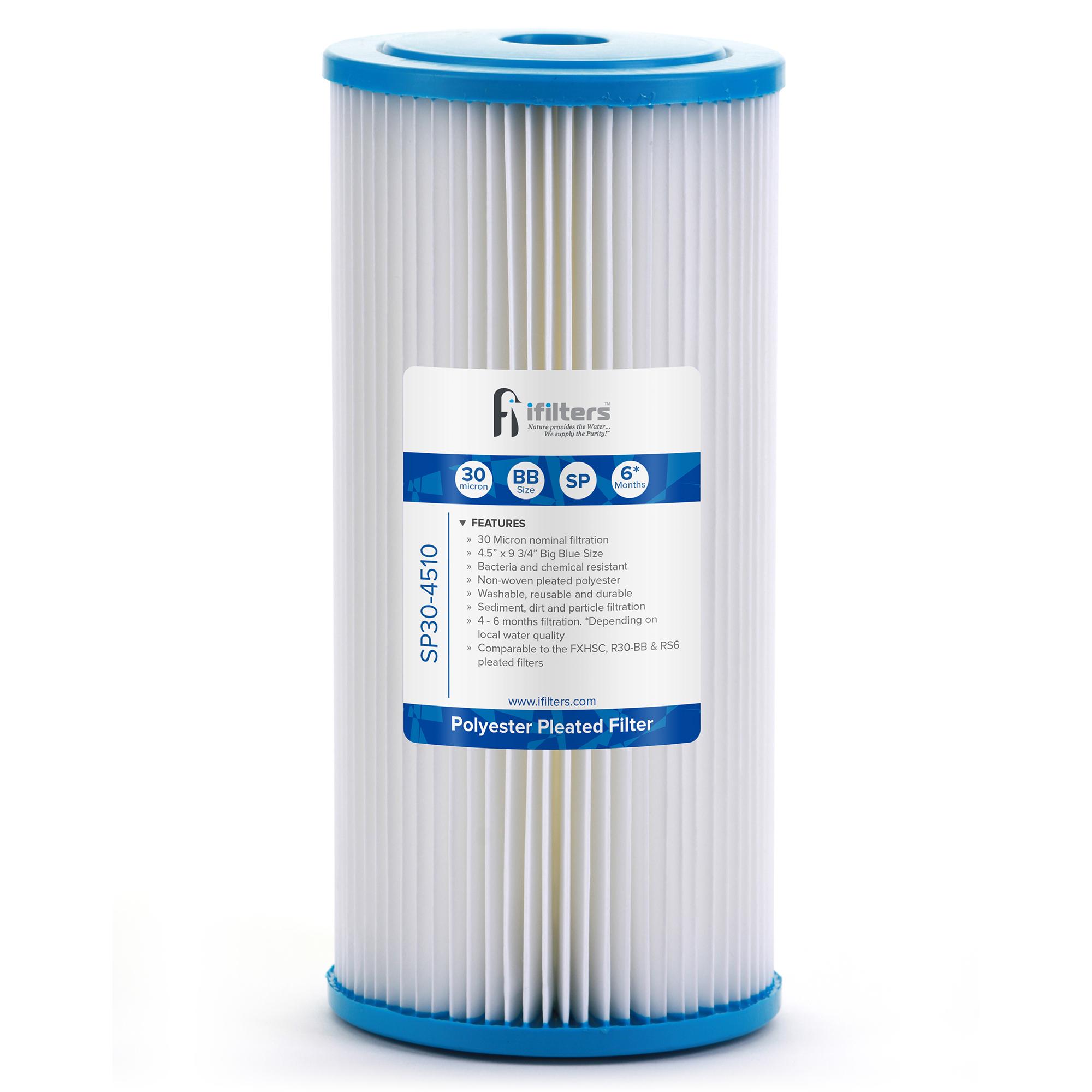 US Water 2.5 x 20 Pleated Filter Cartridge 0.5 Micron