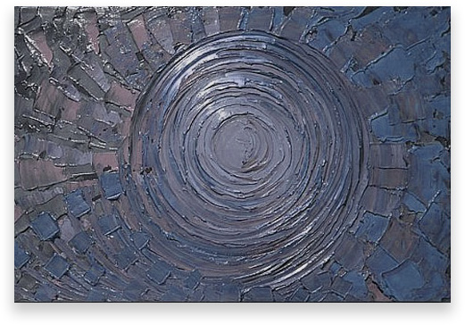 Oil Painting Abstract Modern Contemporary  Handmade Art on Canvas Blue Vortex MAG614-24x36