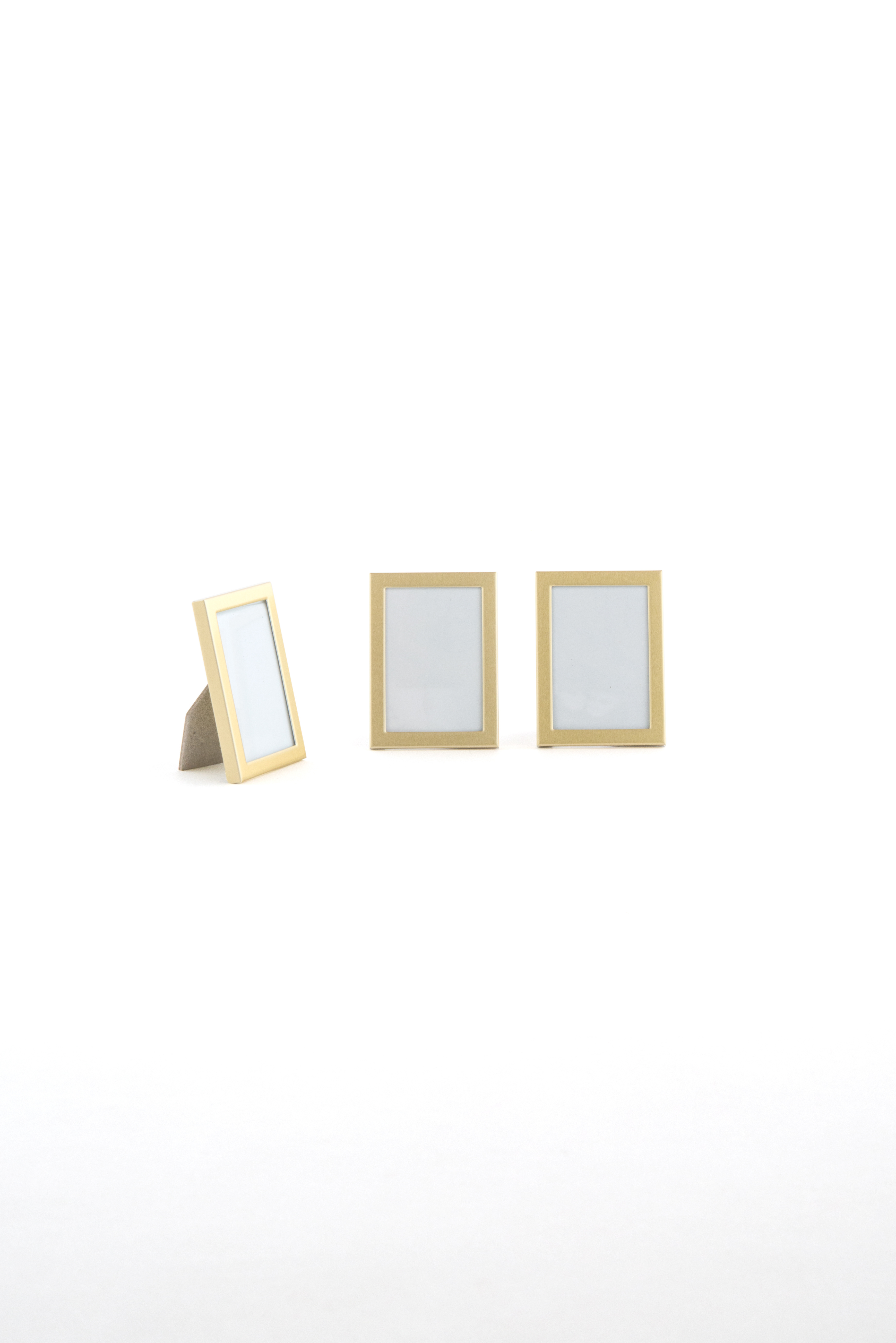 3 Photo Frames Small Easel Back Silver or Gold | eBay