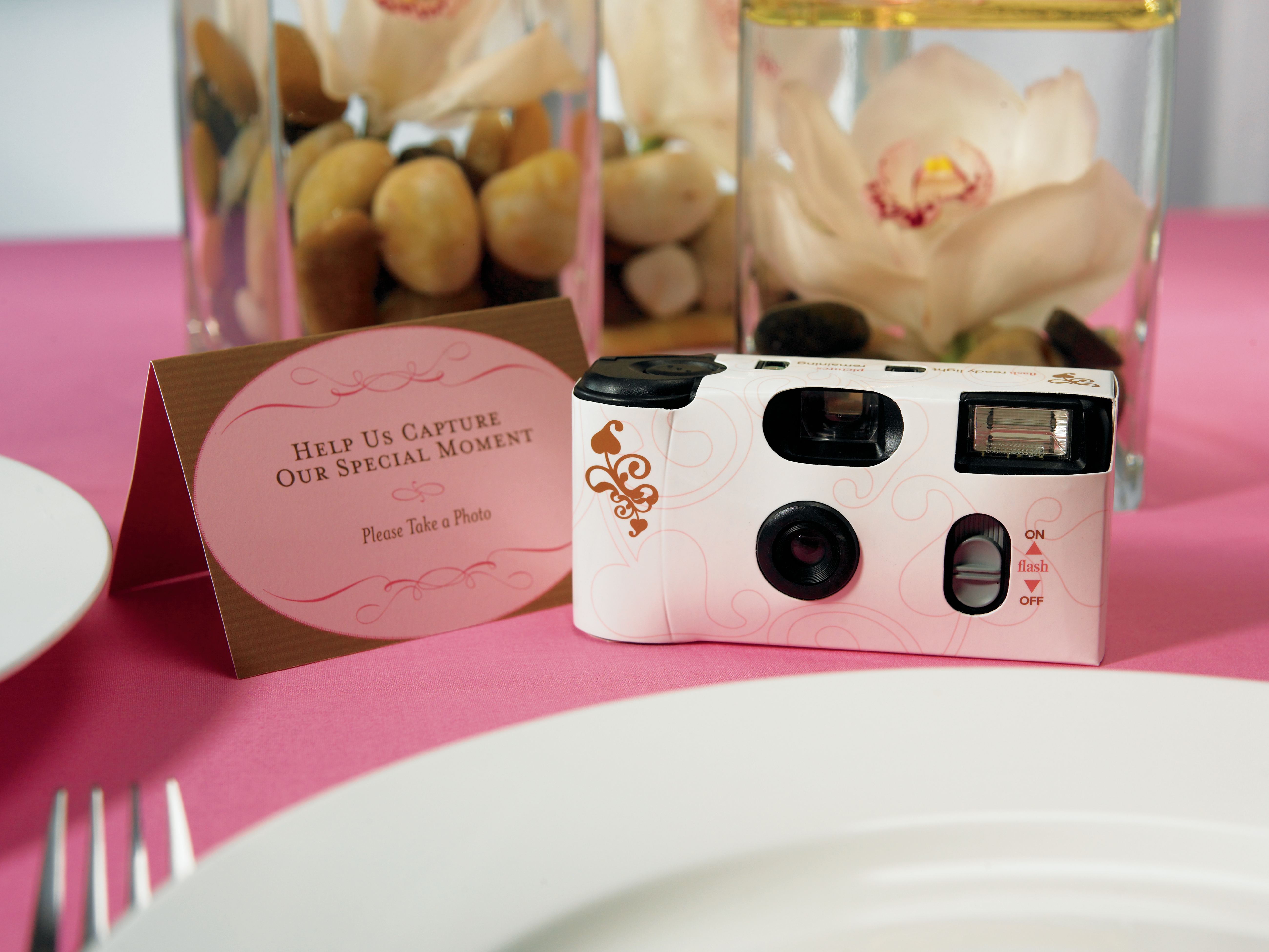 Disposable Cameras with Flash White Wedding Gold Swirl Pack of 10   eBay