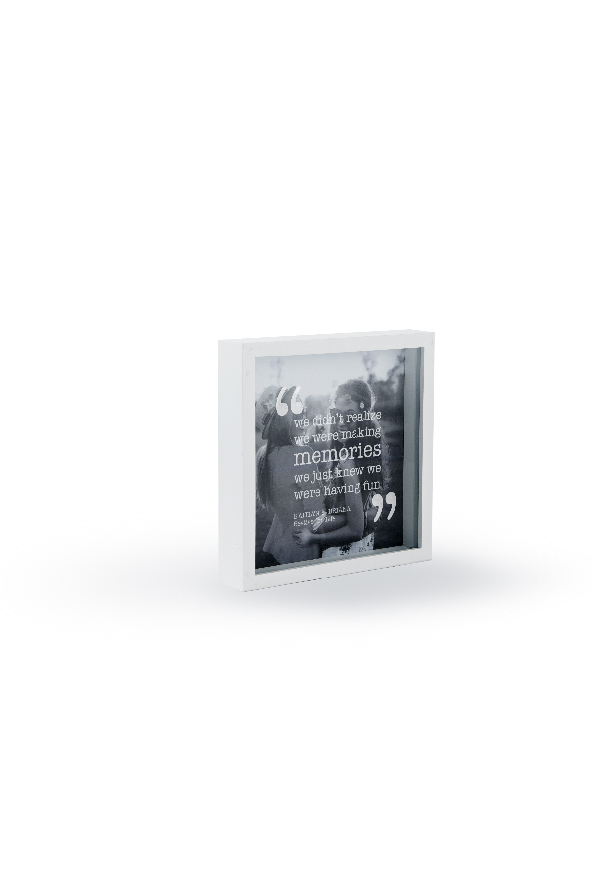 Shadow-Box Frame 25 x 25 cm White or Black | eBay