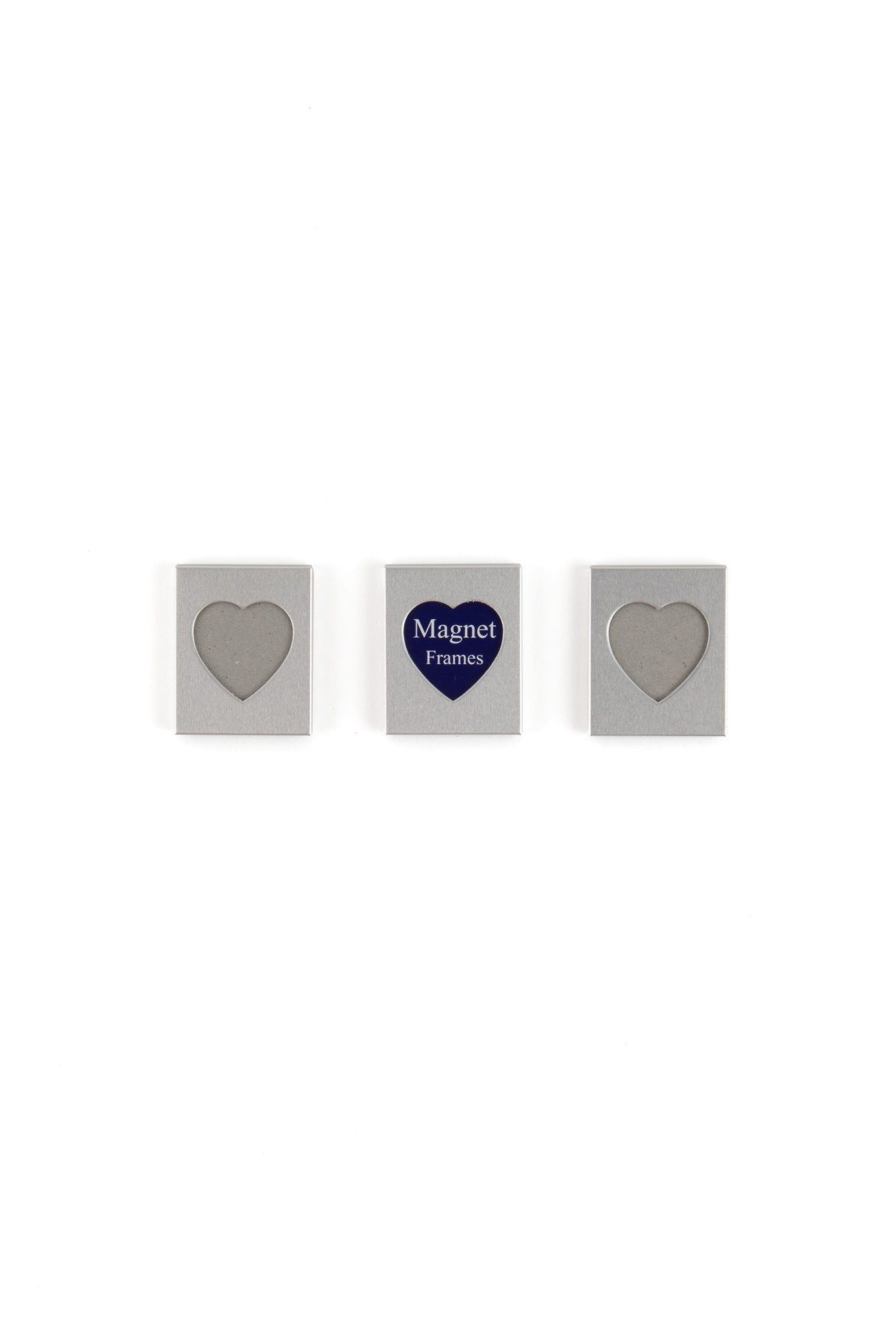 Photo Frames Heart Shaped Magnetic Small Silver 3 Pack 68180008803 ...