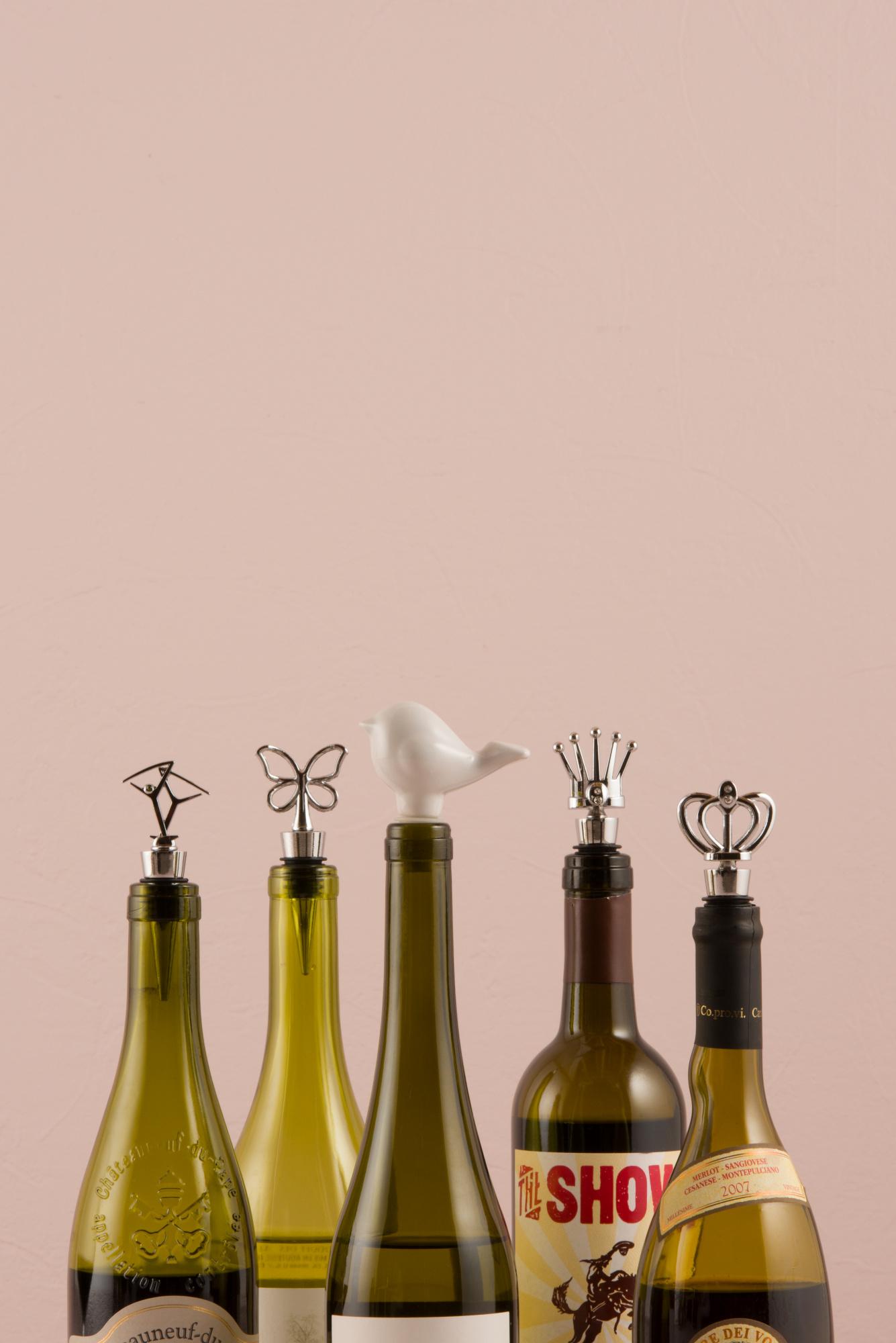 Wine Bottle Stopper Packs of 3 Various Designs | eBay