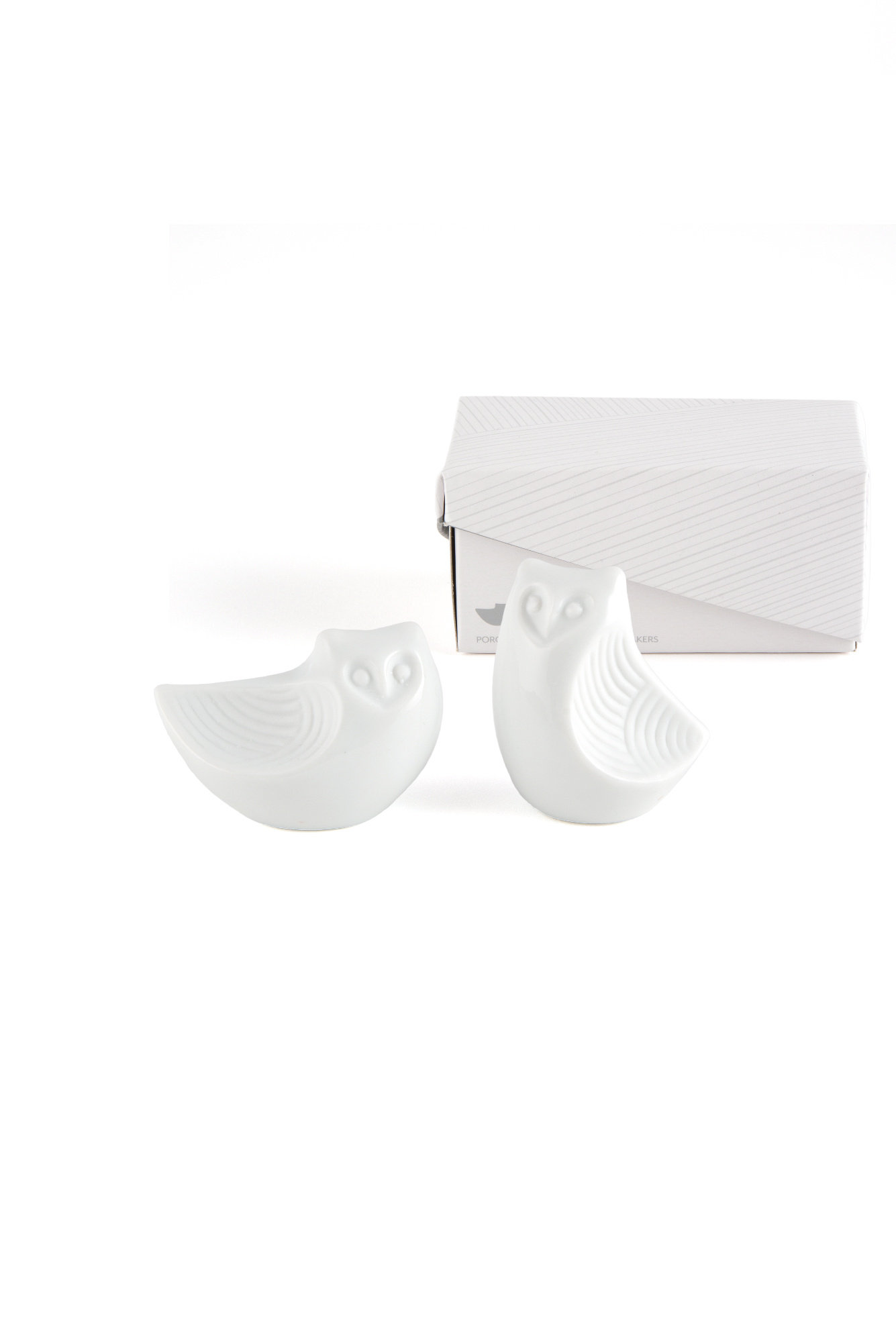 Weddingstar Salt and Pepper Shakers Owl White Ceramic with Gift box