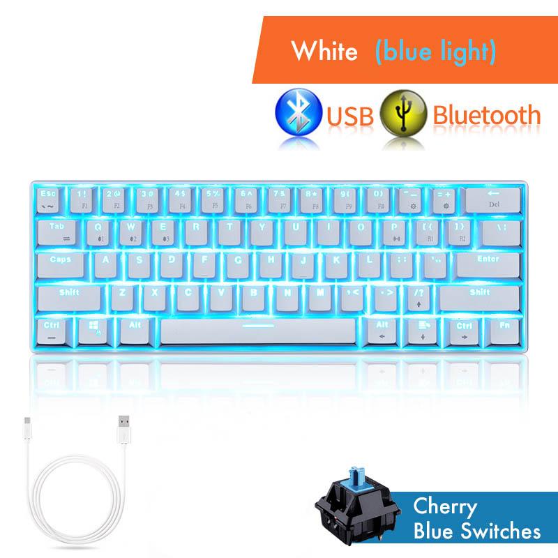 Blue-Backlit-Mechanical-Gaming-Keyboard-61-Keys-Cherry-MX-Blue-Switch-Wireless