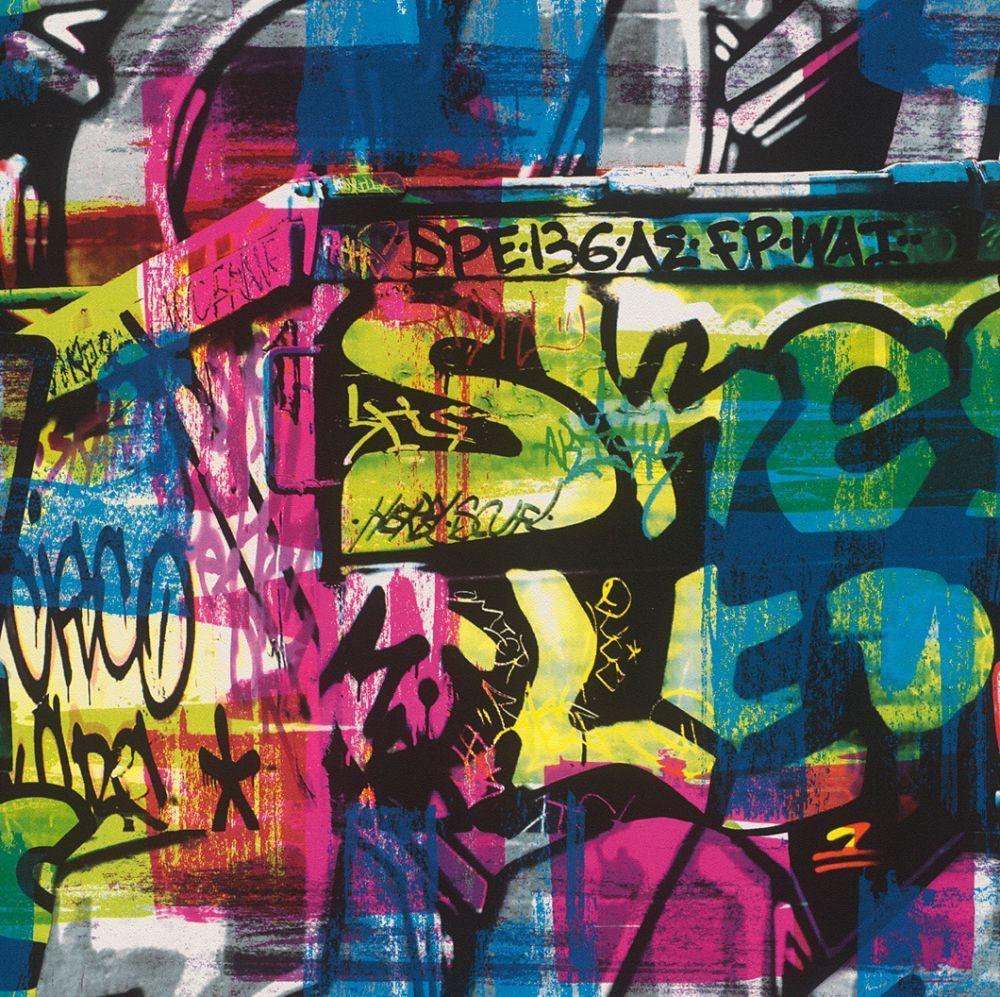 Graffiti style wallpaper teenager kids spray paint art