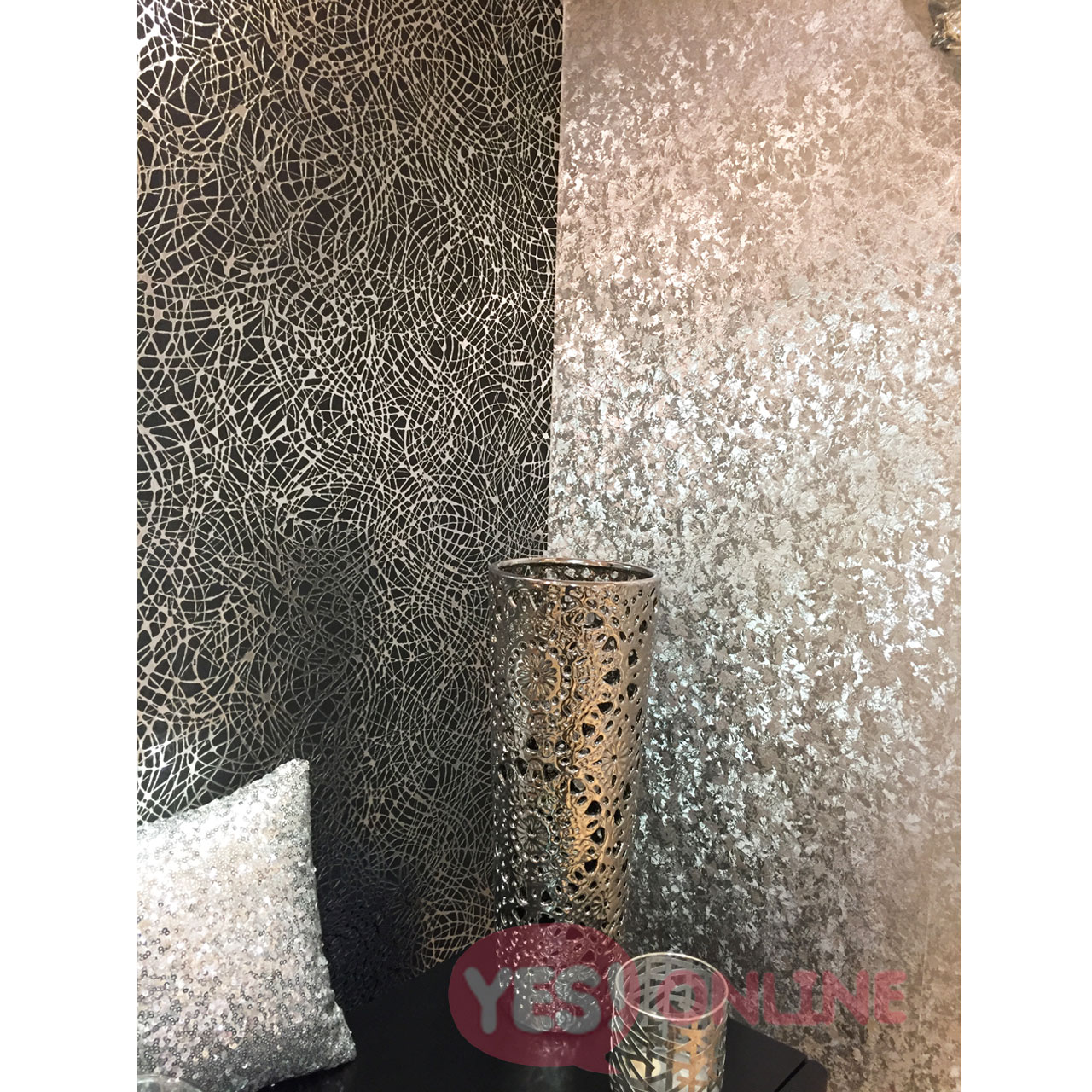 Foil Wallpaper Shiny Metallic Luxury Weighted Vinyl