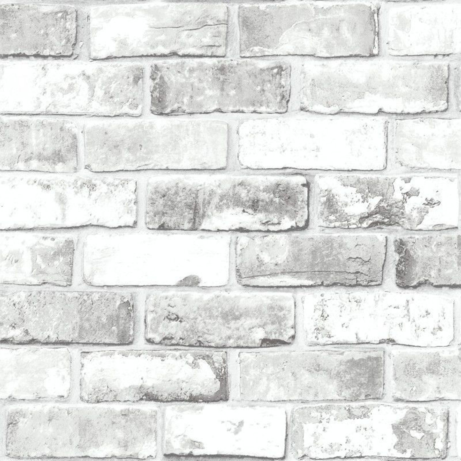 Brick Effect Wallpaper Slate 3D Weathered Stone Realistic
