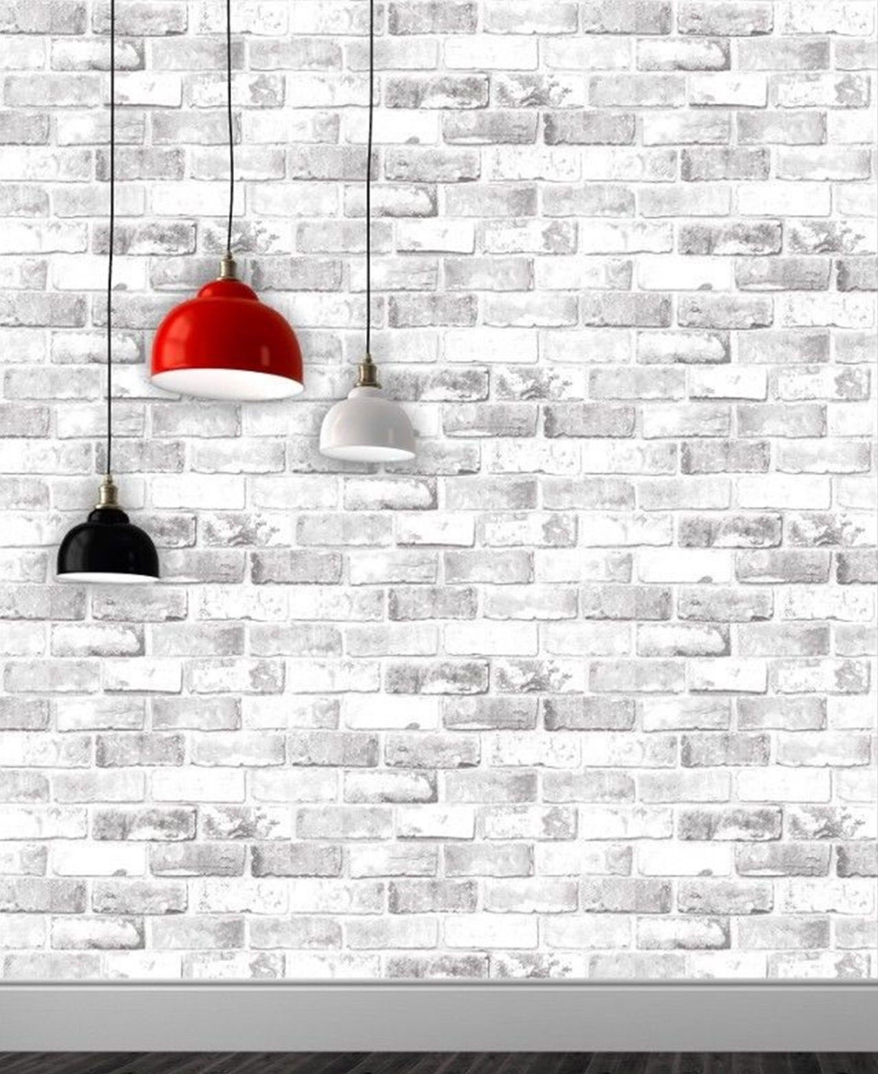 Grey White Brick 3d Effect Wallpaper Weathered Stone Realistic Debona Ebay