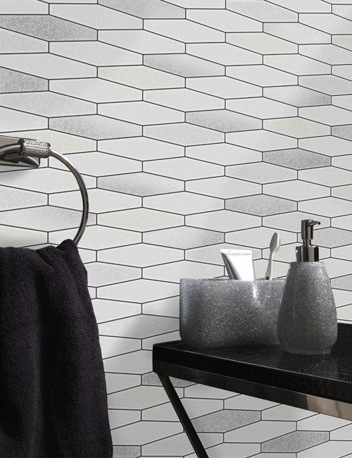 Fantastic Details About Glitter Tile Wallpaper White Black Brick Effect Washable Vinyl Kitchen Bathroom Download Free Architecture Designs Ogrambritishbridgeorg