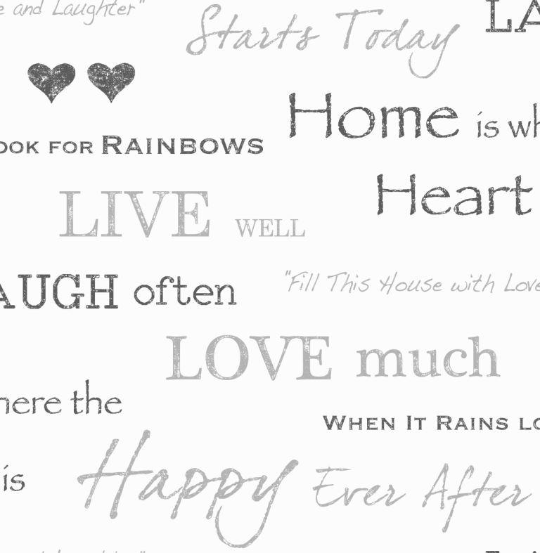Detalles De Cotizaciones De Las Palabras De Amor Wallpaper Familia Felicidad Bendito Negro Blanco Característica Pared Ver Título Original