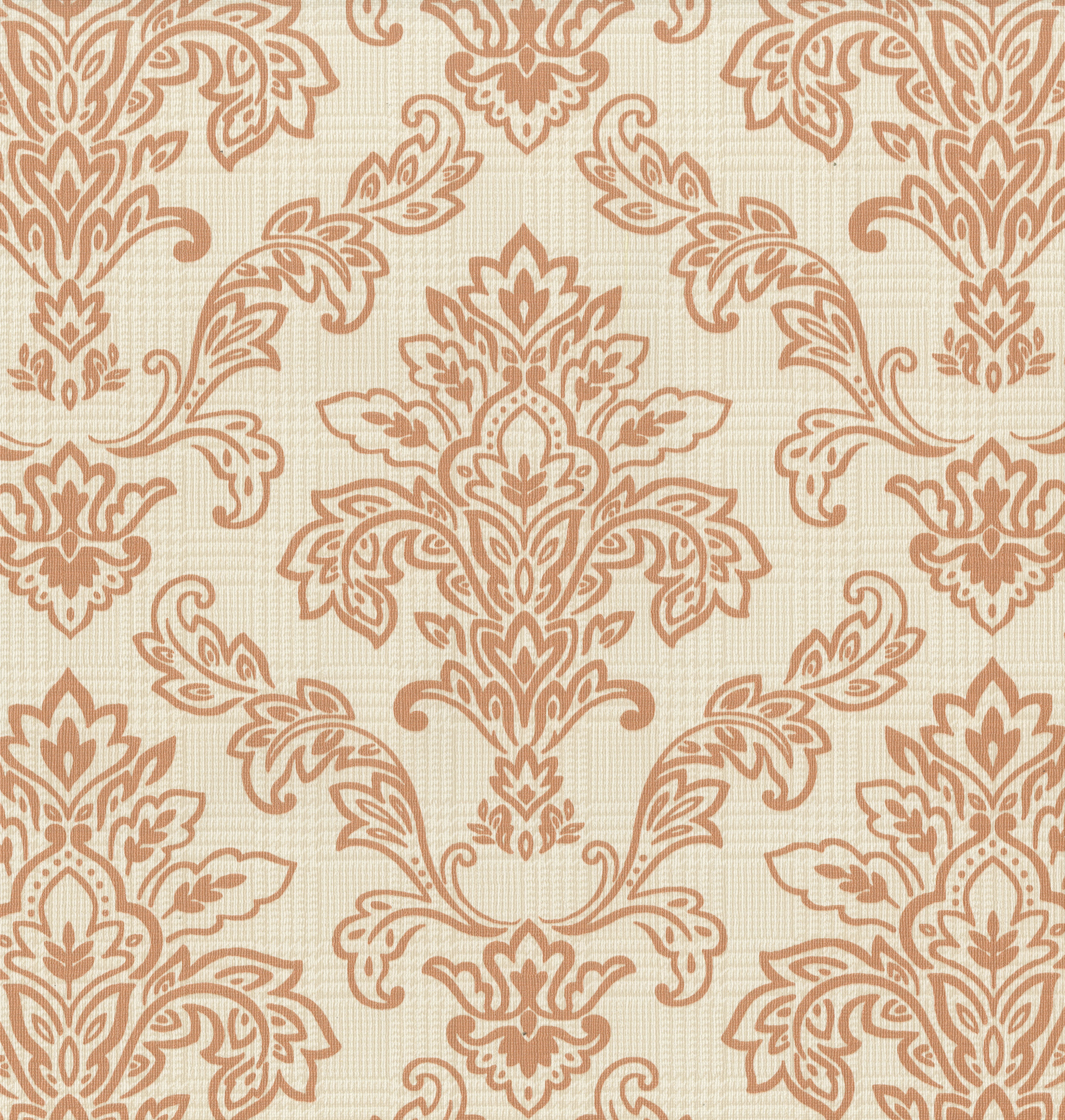 Stunning Damask Wallpaper Red Orange Silver Black Living Room Feature Wall Ebay