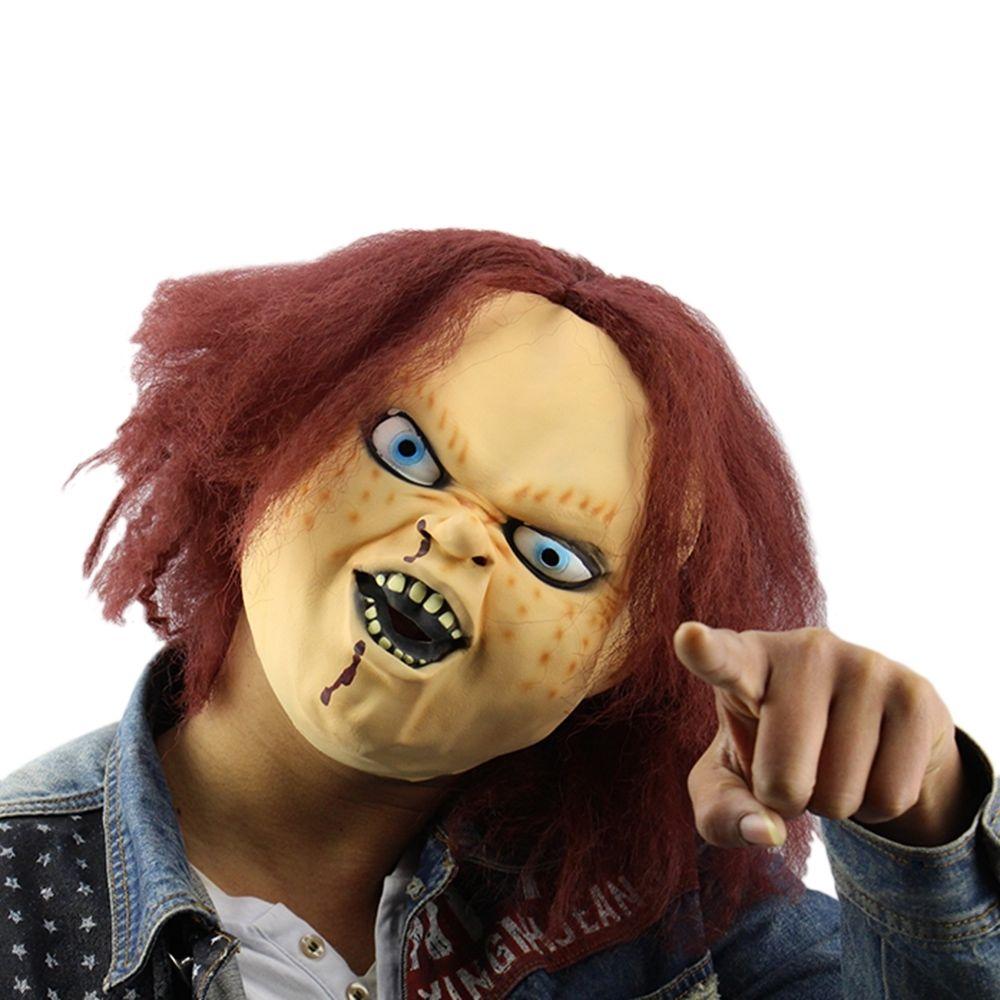 Realistic Coloring Of Chucky: Halloween Horror Mask For Child Play Chucky Action Figures