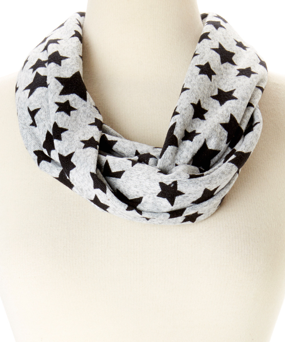 Amtal-Women-Fleece-Blanket-Style-Stars-Design-Soft-Cozy-Infinity-Circle-Scarf