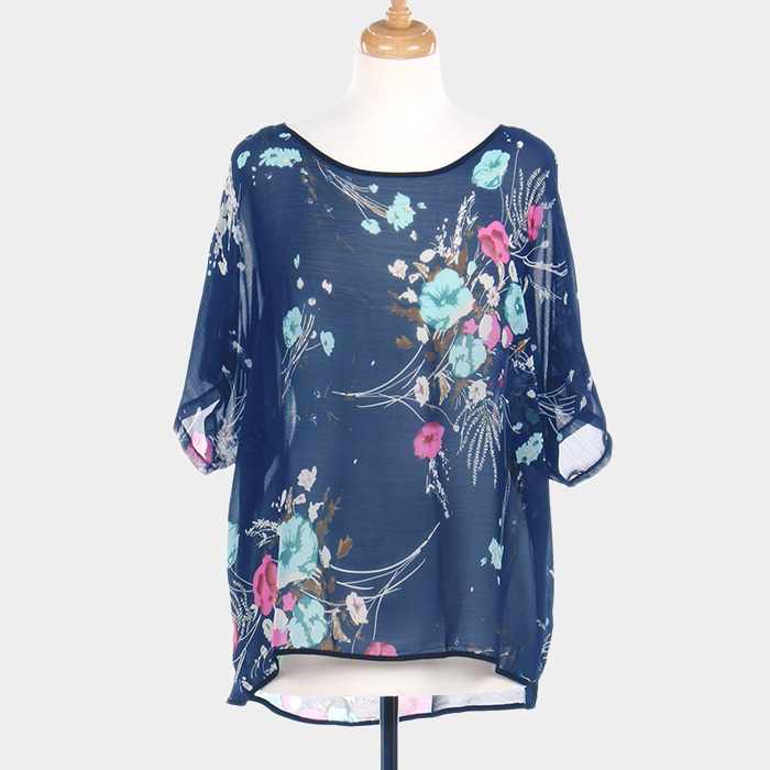 Amtal-Women-Bohemian-Floral-Print-Poncho-Sleeve-Loose-Blouse-Cover-Up-Top