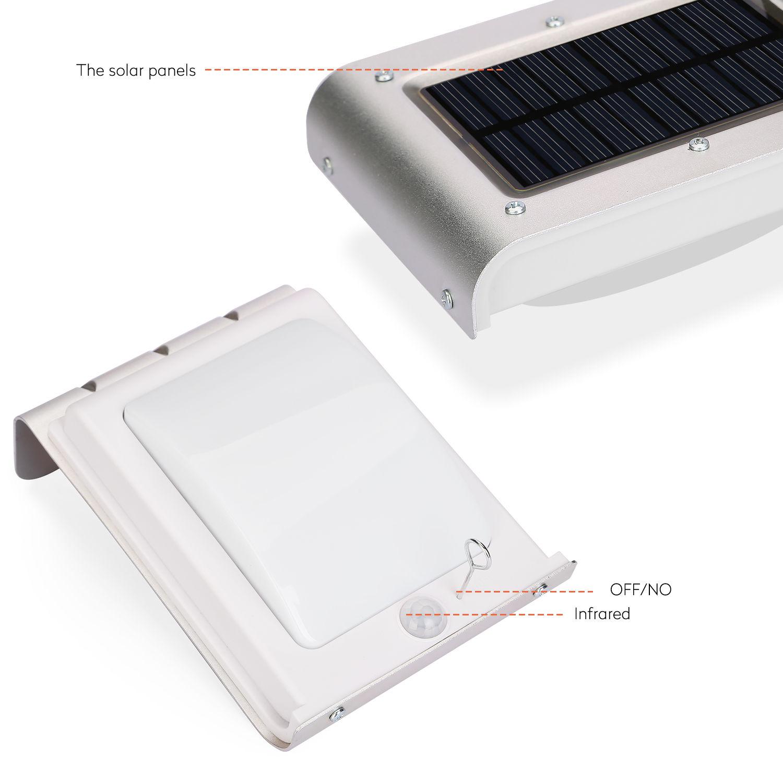 Barn Light With Pir Sensor: Solar Powered 16 LEDs SMD2538 Wireless PIR Motion/Light