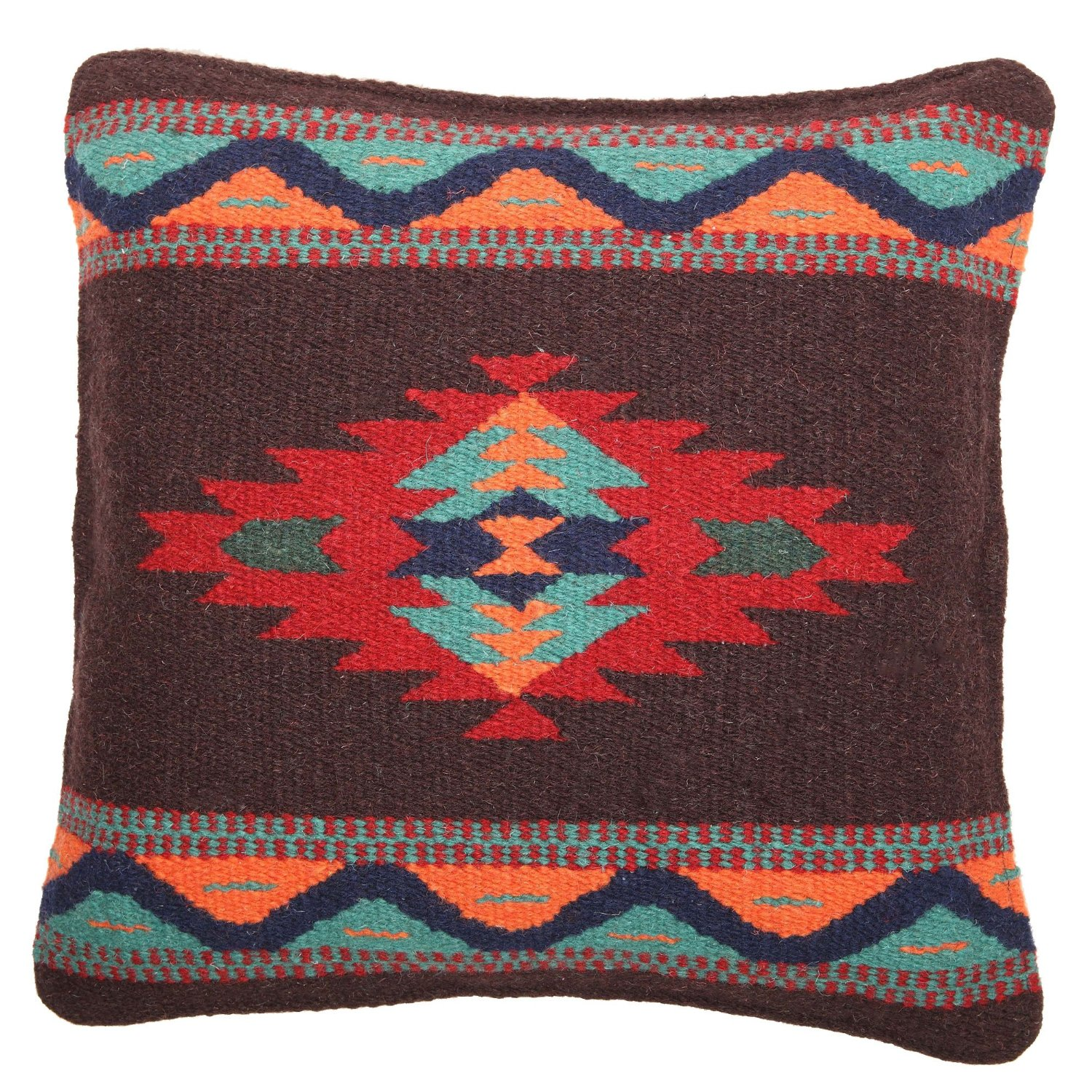 Wool Throw Pillow Cover Southwest Native American 18X18 Decorative Running Bear eBay