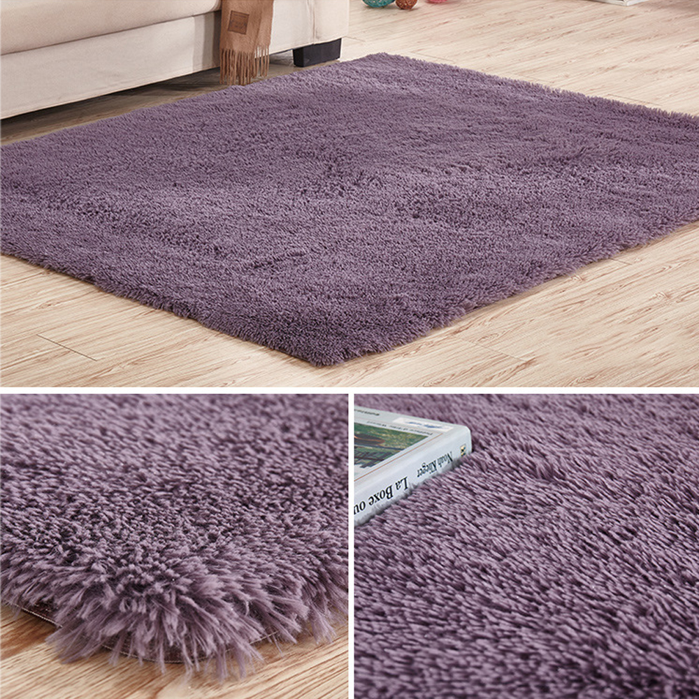 Soft Tufted Microfiber Bathroom Home Mat Rug Non Slip Back