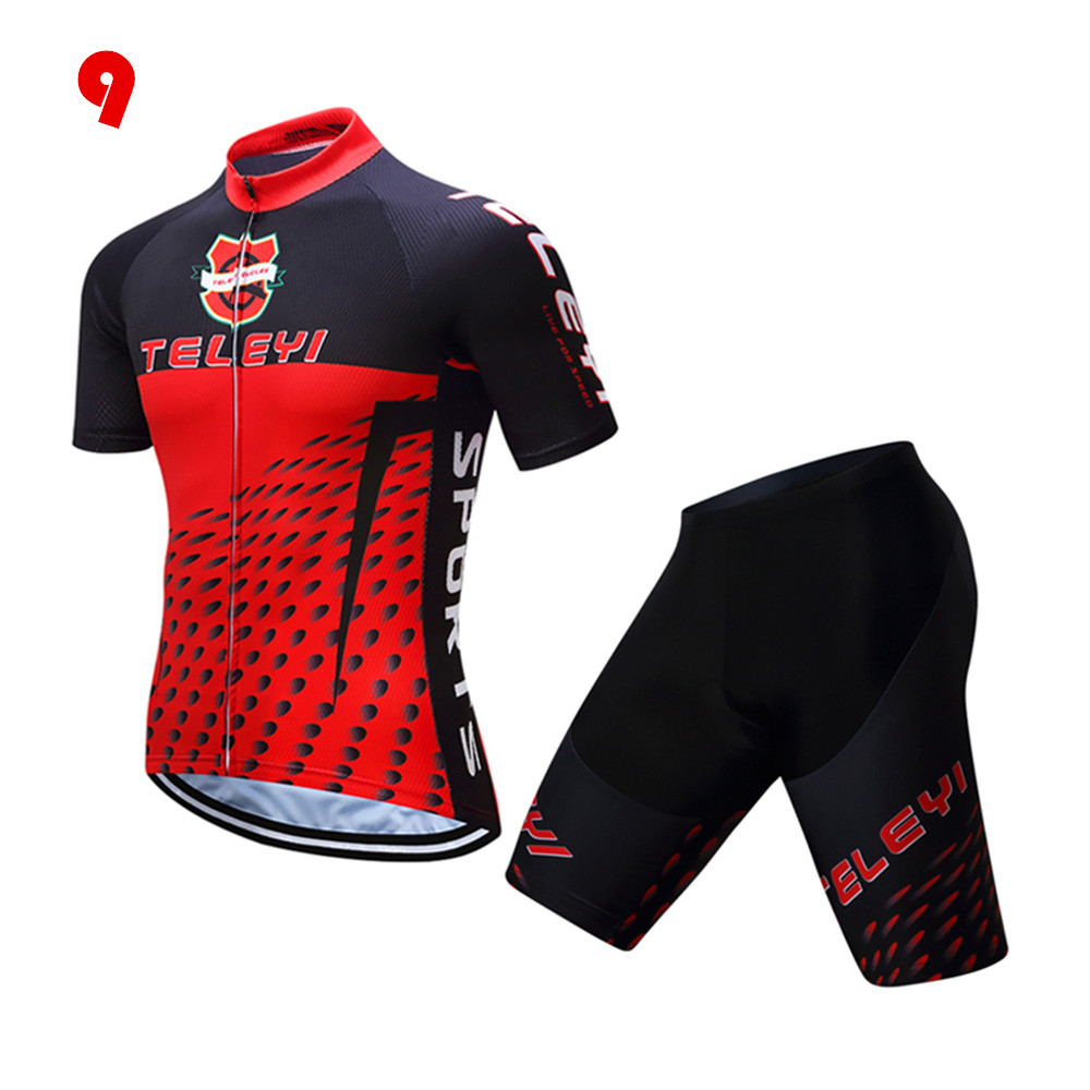Cycling Jersey Mens Short/Long Sleeve Breathable Sportwear ...