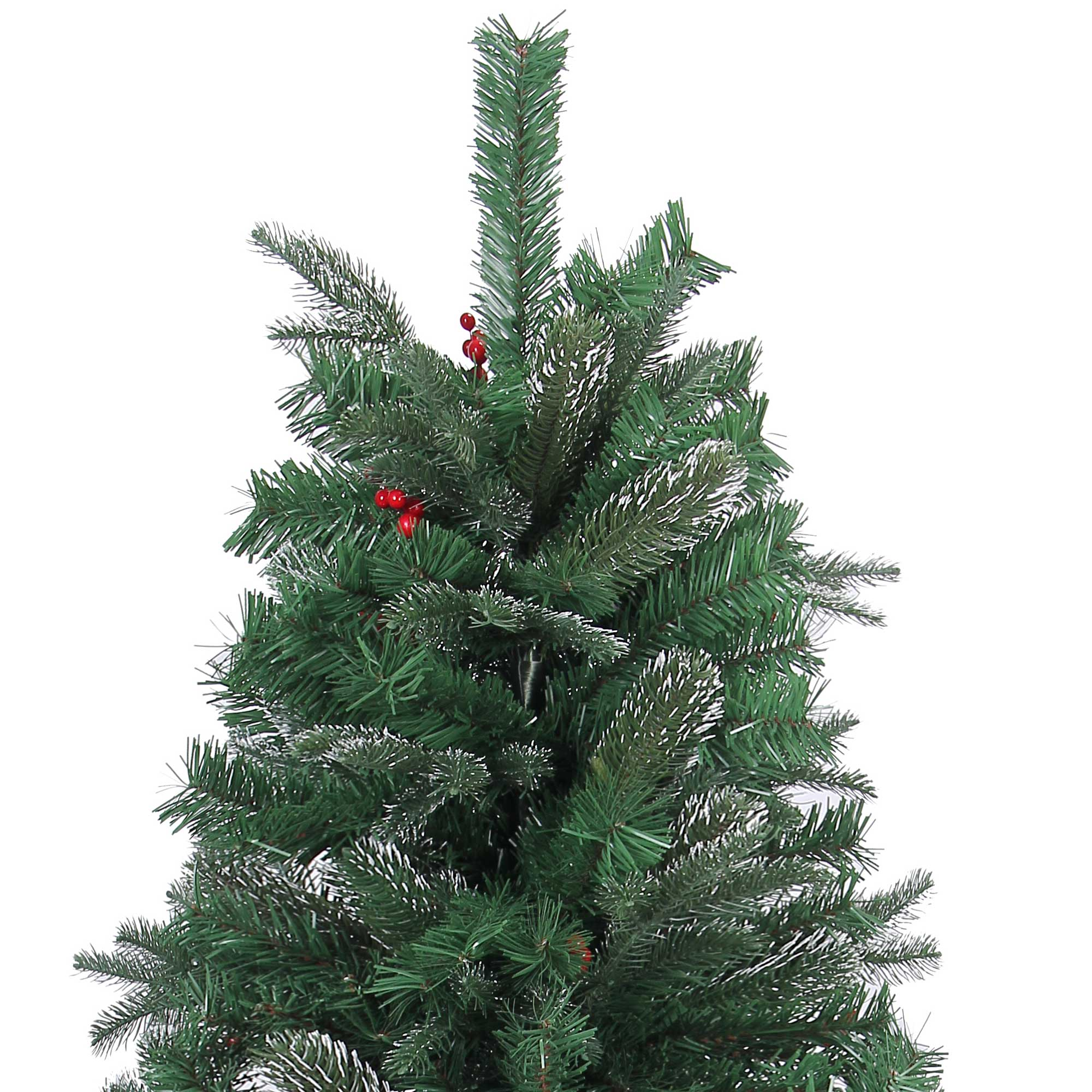 Red Red Pine Christmas Tree: Naturally Decorated Elegant Christmas Tree Frosted Tips