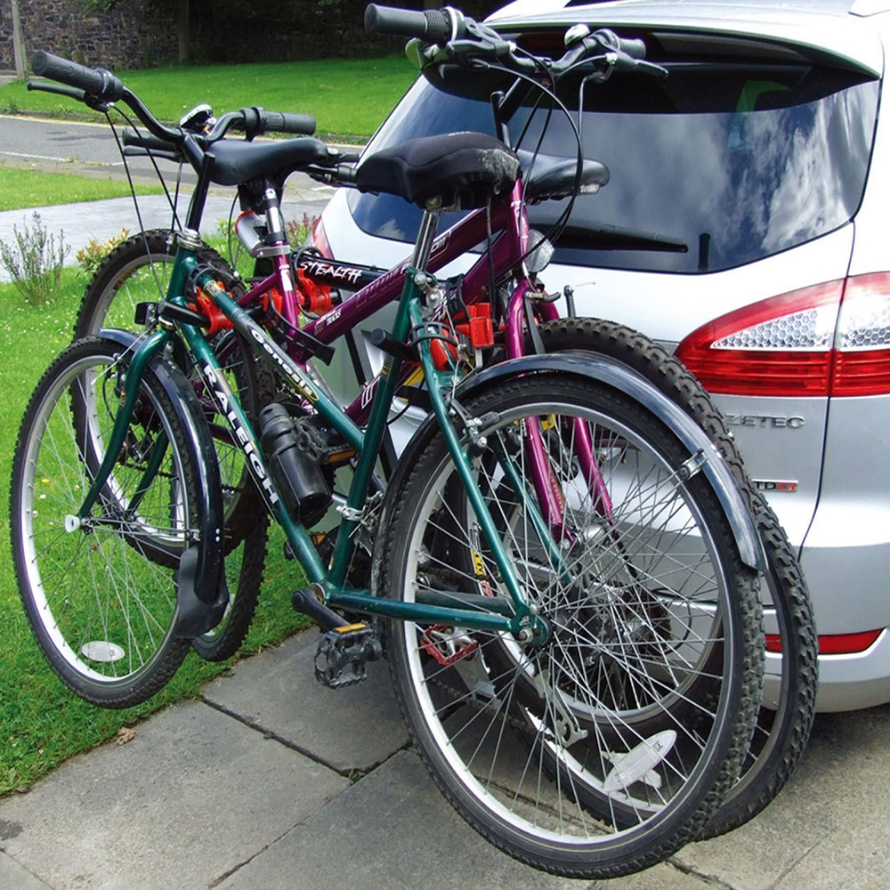 3 bikes bicycle carrier v rack towbar mount car rear tow for Is a bicycle considered a motor vehicle
