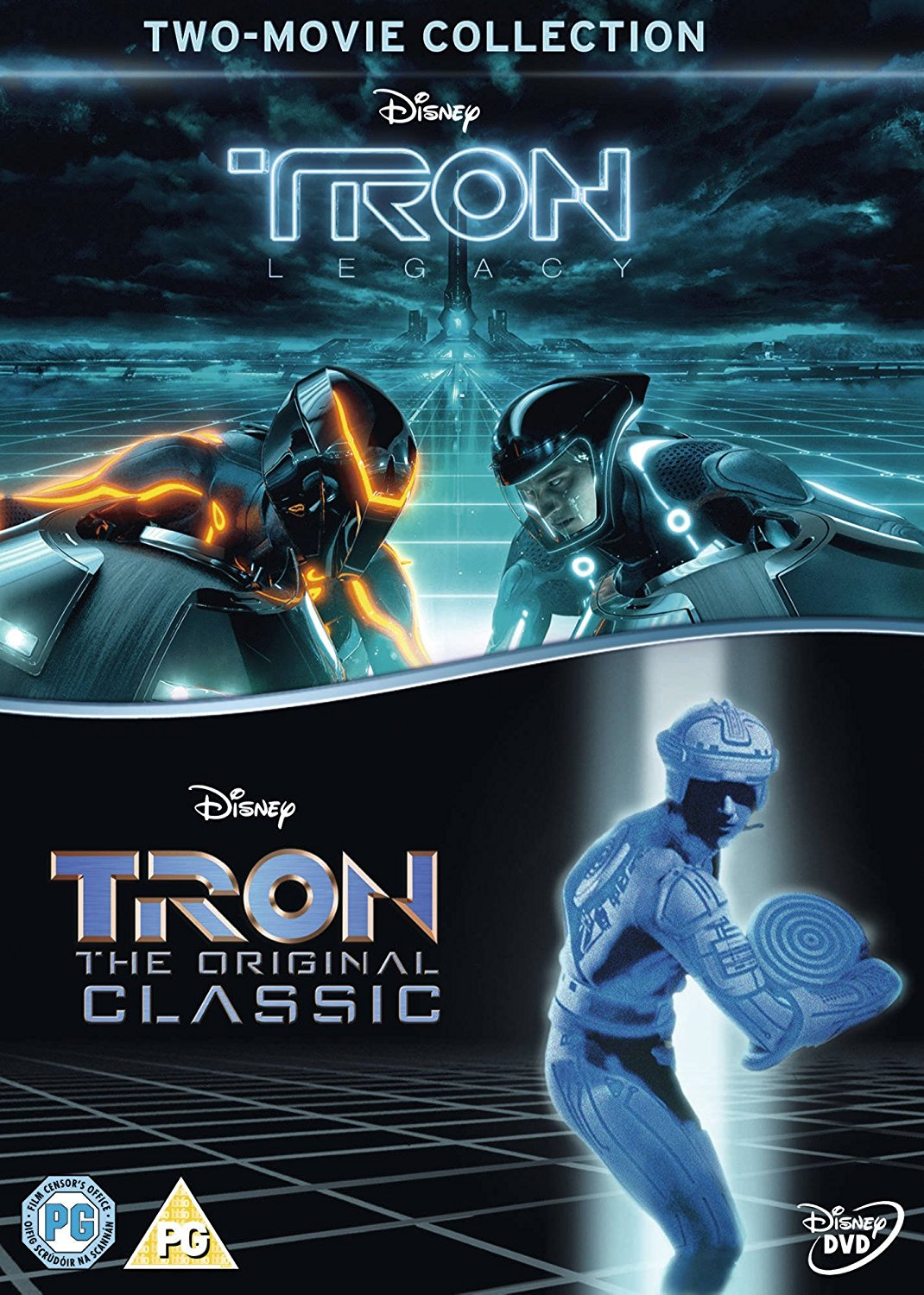 tron / tron legacy [dvd] box set new sealed uk region 2 tron 1 and 2