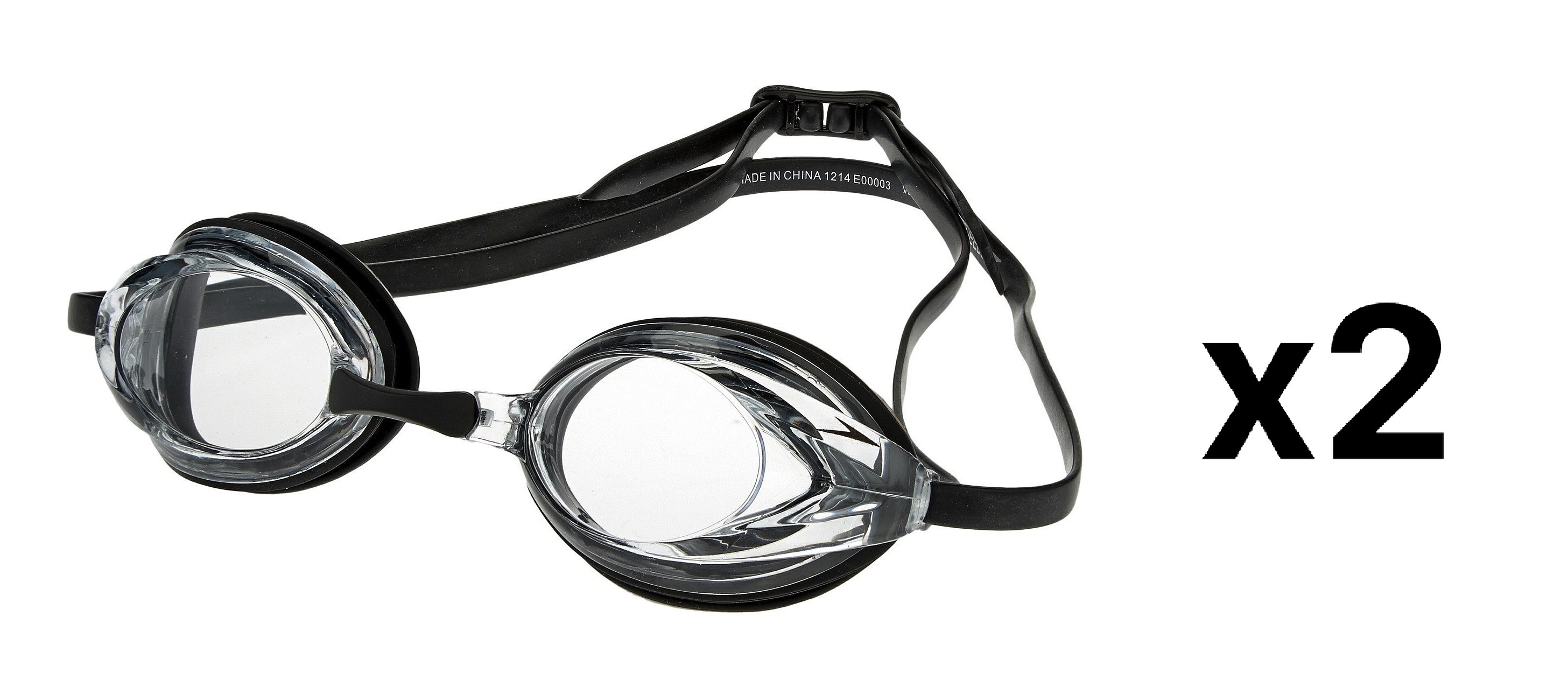 8ac208baf243 Speedo Vanquisher Optical Swim Swimming Goggles Clear Diopter -5.0 ...