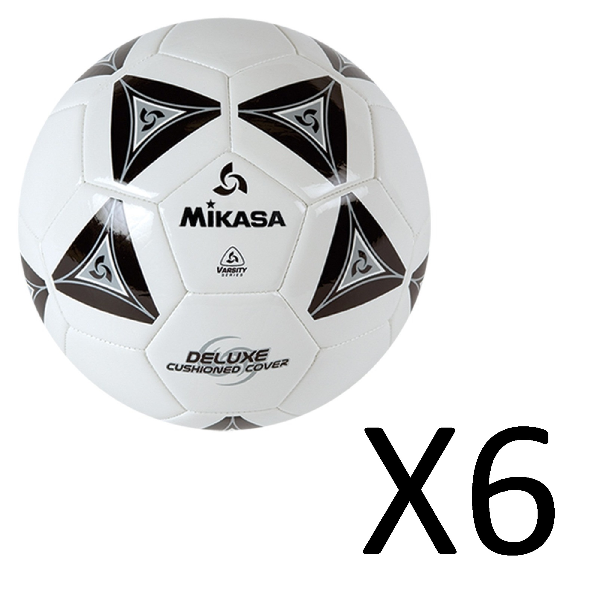 d2d68570c Football Equipment Mikasa Official Goal Master Soccer Football Ball Size 5  Yellow w/ Black 6-Pack