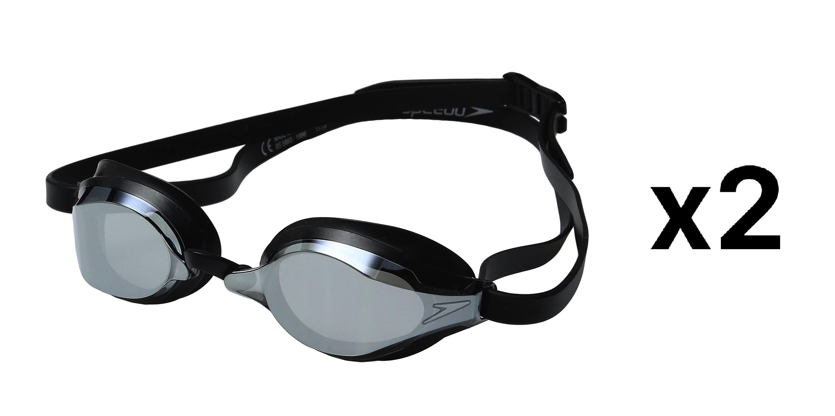 6581ef88e50e6 Speedo Speed Socket 2.0 Mirrored Swim Goggle-One Size, Black/Silver ...