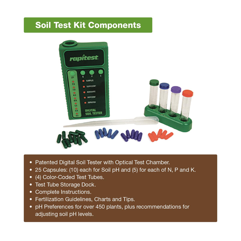 Luster Leaf 1605 Rapitest Digital Soil Testing Kit For Garden Lawn Plant Flower