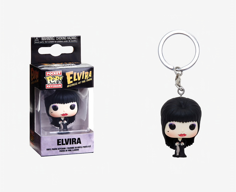 Keychain Elvira Pocket Pop Keychains--Elvira
