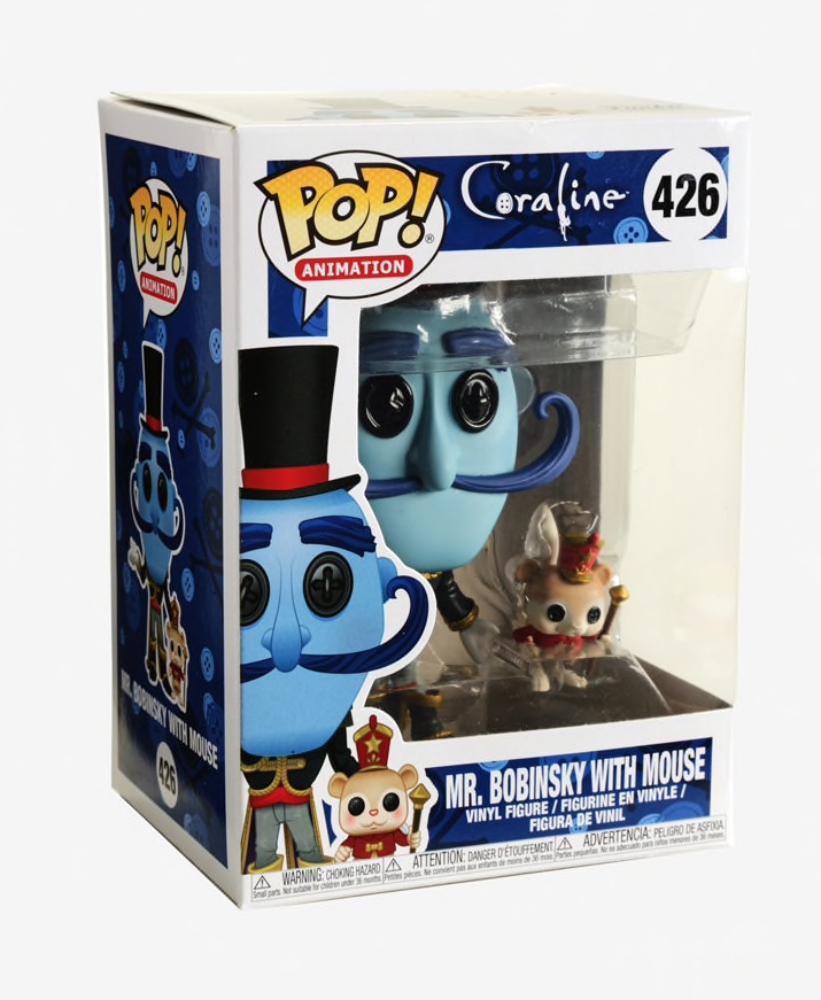 Coraline Mr Bobinsky with Mouse Vinyl Figure Item #32825 Funko Pop Animation