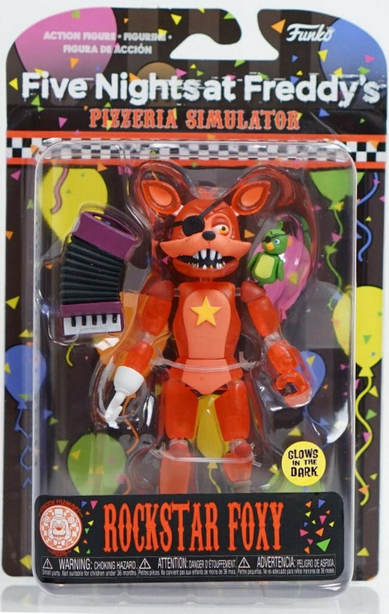 Funko Mystery Minis Five Nights Freddy/'s Glow Pizzeria Simulator Rockstar Foxy