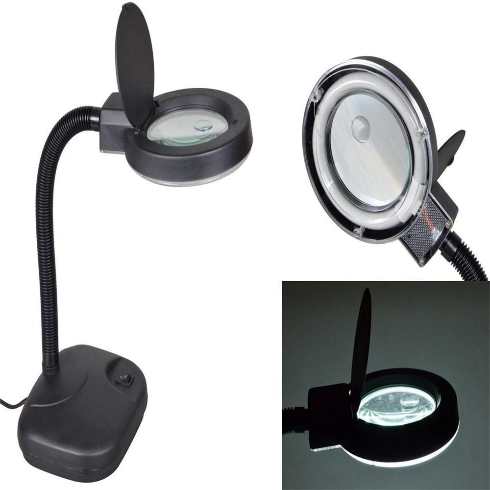 Flexible Desktop Magnifyer 36 LED Zoom Lighting Table Desk Lamp – Desk Lamp Magnifying Glass