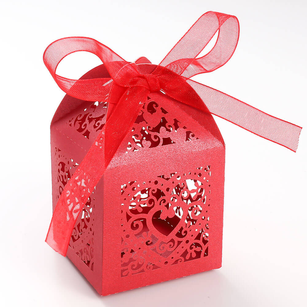 Party Favor Boxes for Bridal Shower Anniverary Wedding Party Favor Red Gdeal 100Pcs Butterfly Wedding Favor Box Candy Box Gift Box