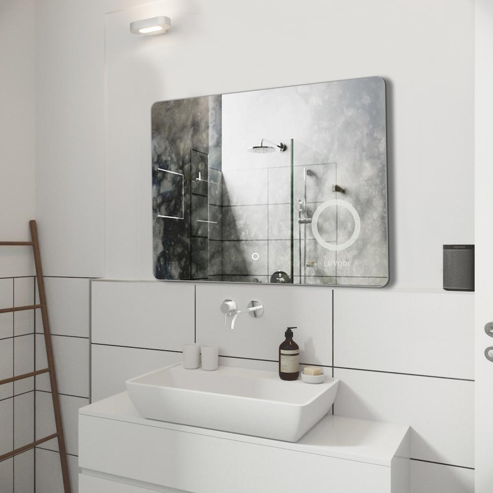 Led Illuminated Vanity Mirror Wall Backlit Bedroom Mirror For Bathroom Bedroom Ebay