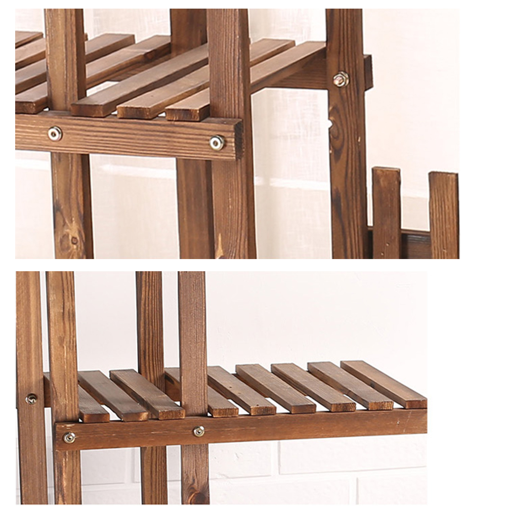 Exhibition Stand Storage : Wooden plant flower pot display stand wood shelf storage