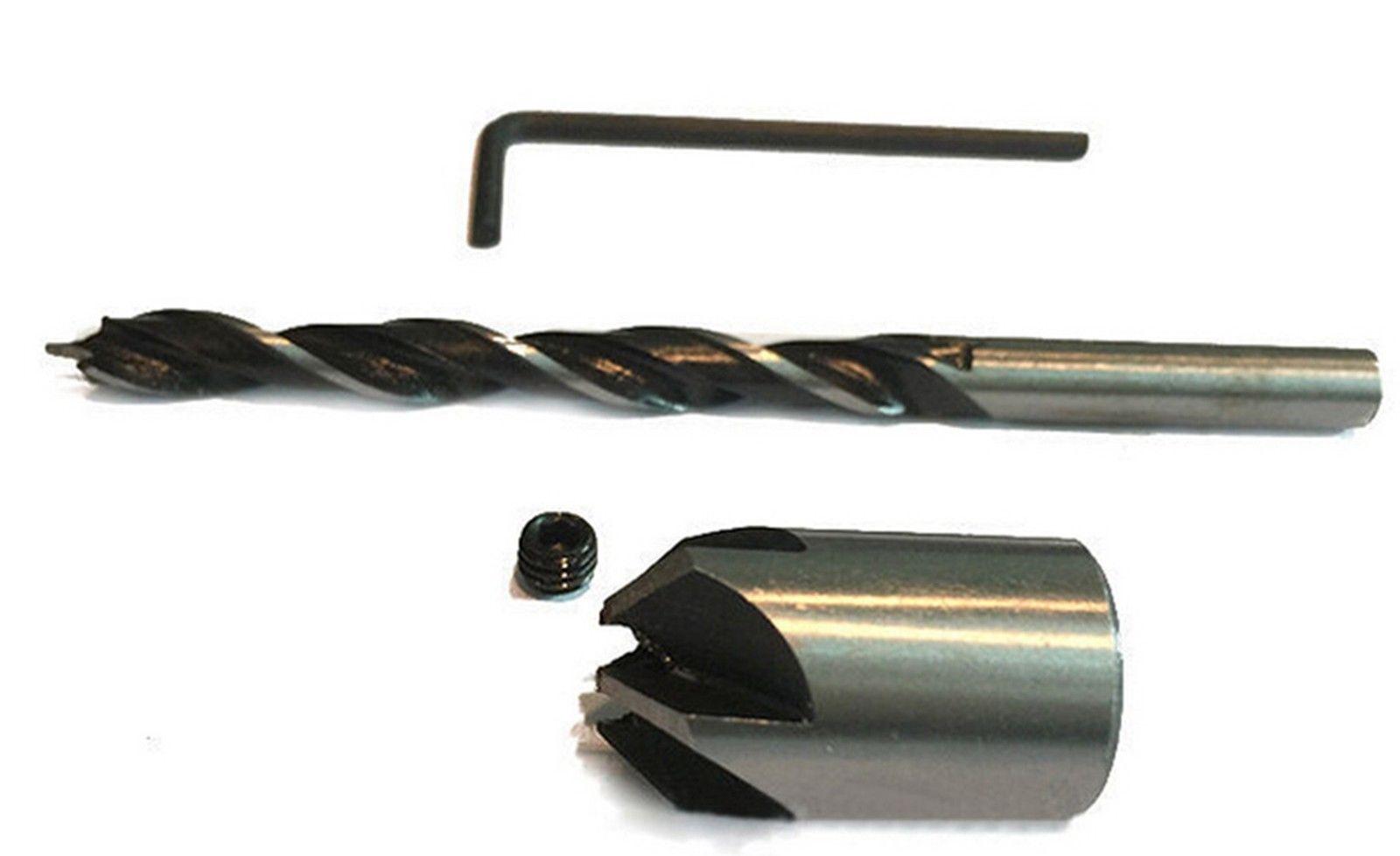 7 tlg HSS 5 Flöte Versenker Aufstecksenker Senker Senkbohrer Holzbohrer 3-10mm