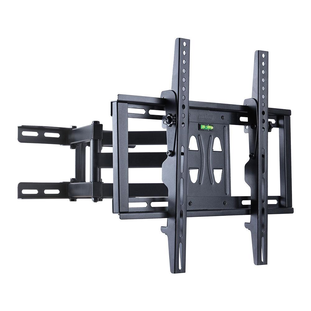 Double arm tilt swivel tv wall mount bracket plasma 55 50 for Tv wall mount tilt down