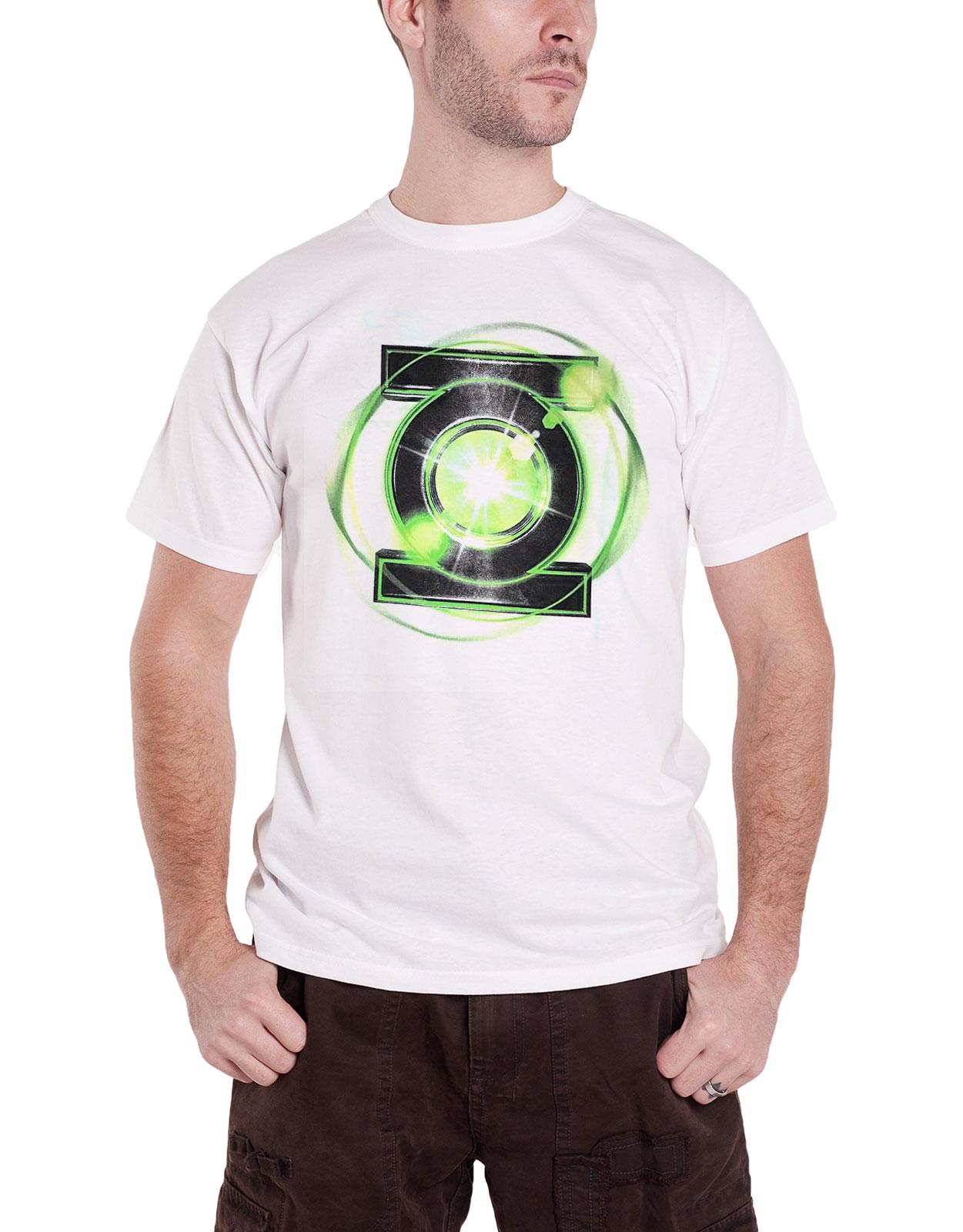 ac14cfcad Green Lantern T Shirt Emblem Logo new Official DC Comics Mens White ...