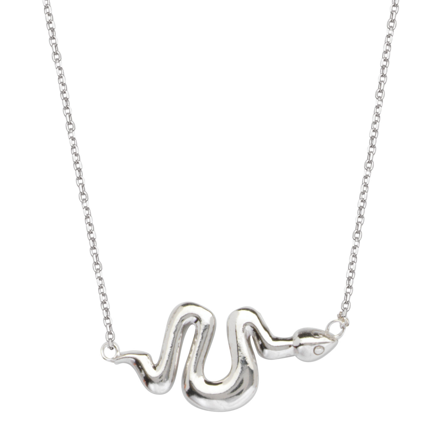East2West Chevron Necklace Rhodium on Sterling Silver Nontarnish