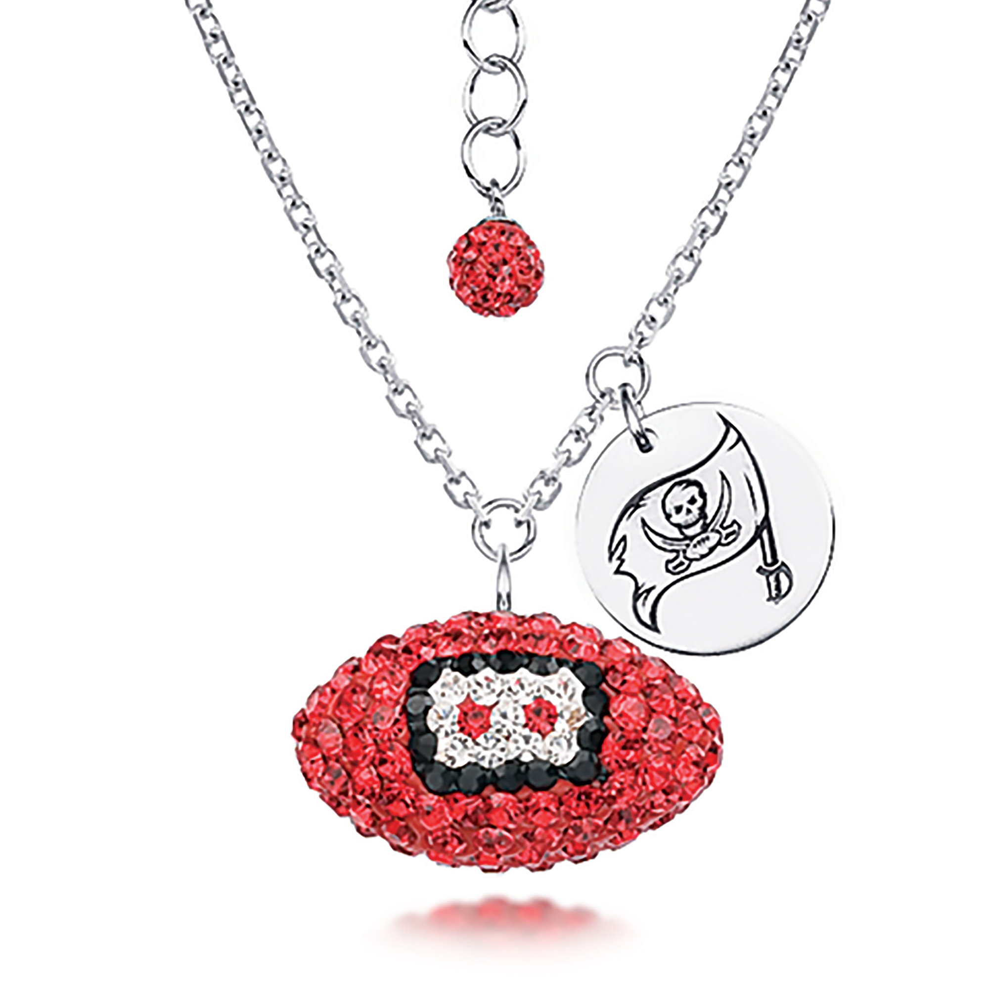 38b7182e2 Tampa Bay Buccaneers Necklace Licensed NFL Team Crystal Football and Logo  Charm