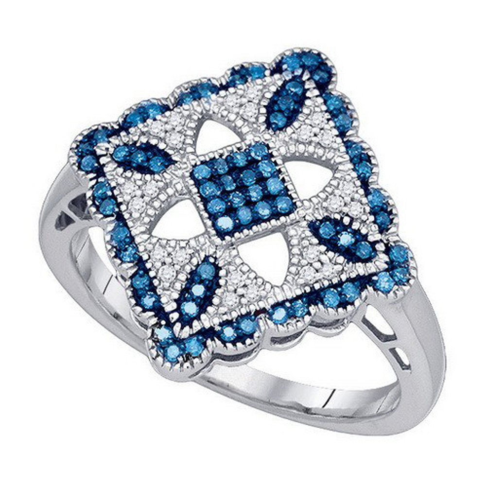 Blue and White Diamond Ring Quilt Pattern 10k White Gold | eBay : diamond ring quilt pattern - Adamdwight.com