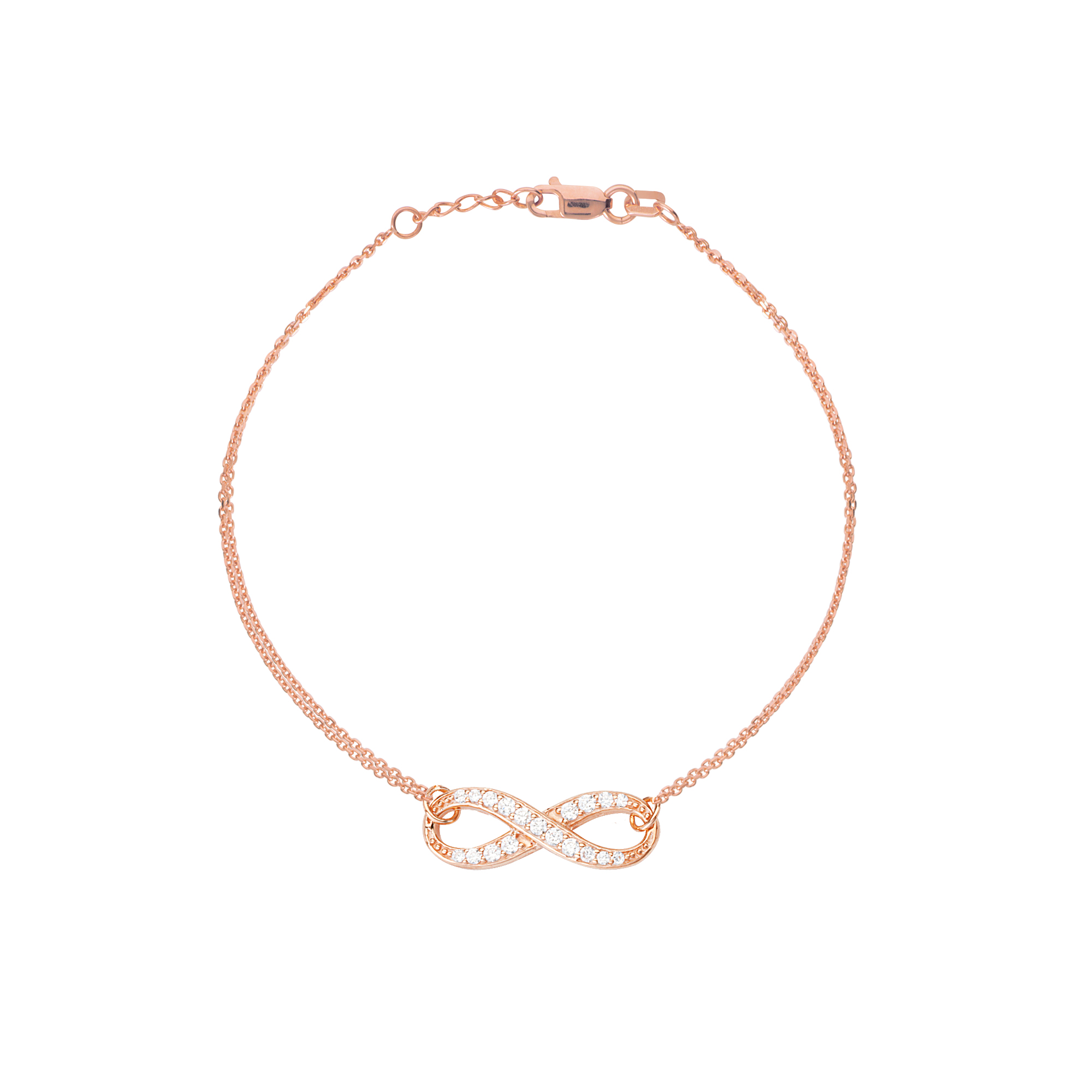 tiffany size dsc bracelet products timpanys co rose copy gold small infinity