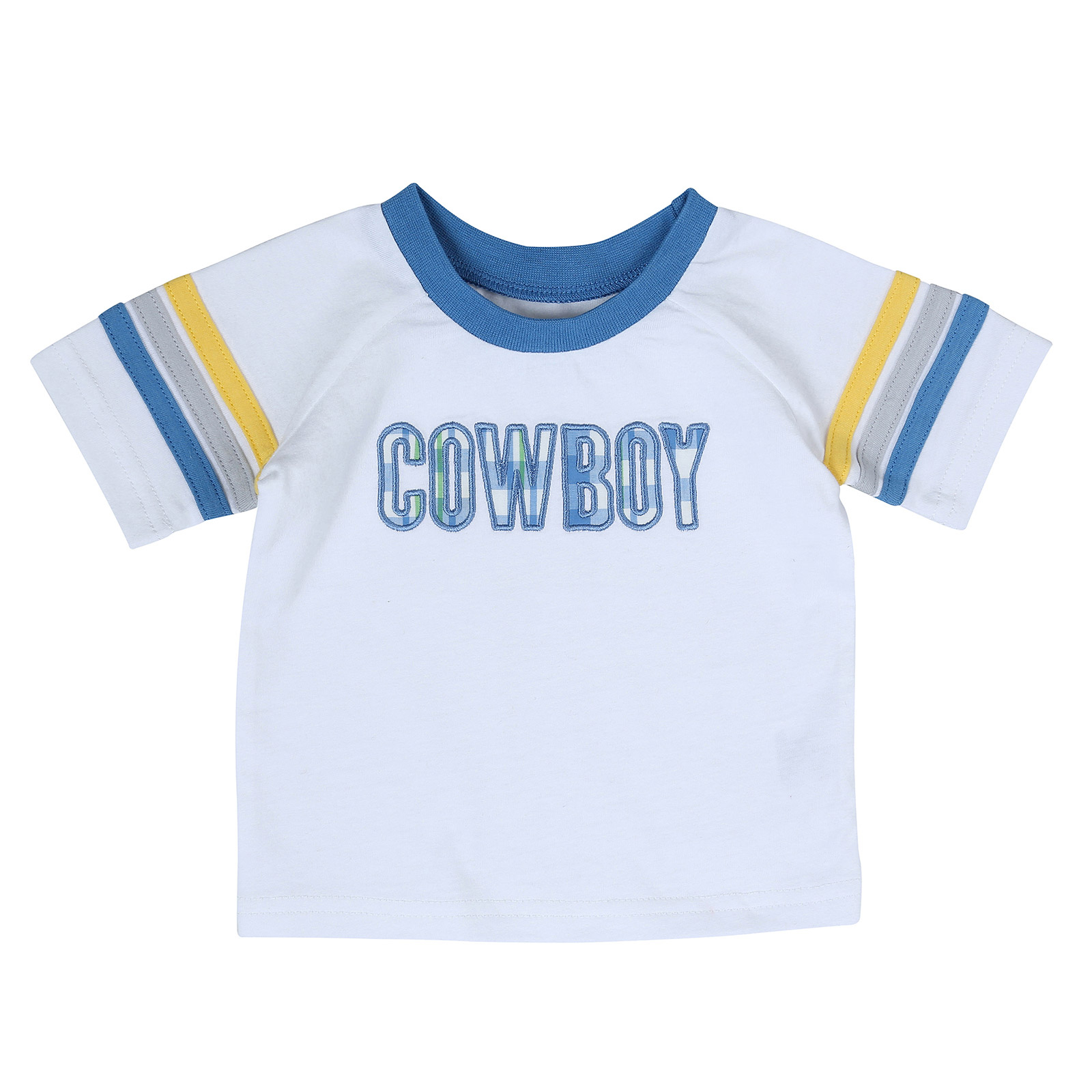 All Around Baby by Wrangler Infant Boys White Cowboy Shirt