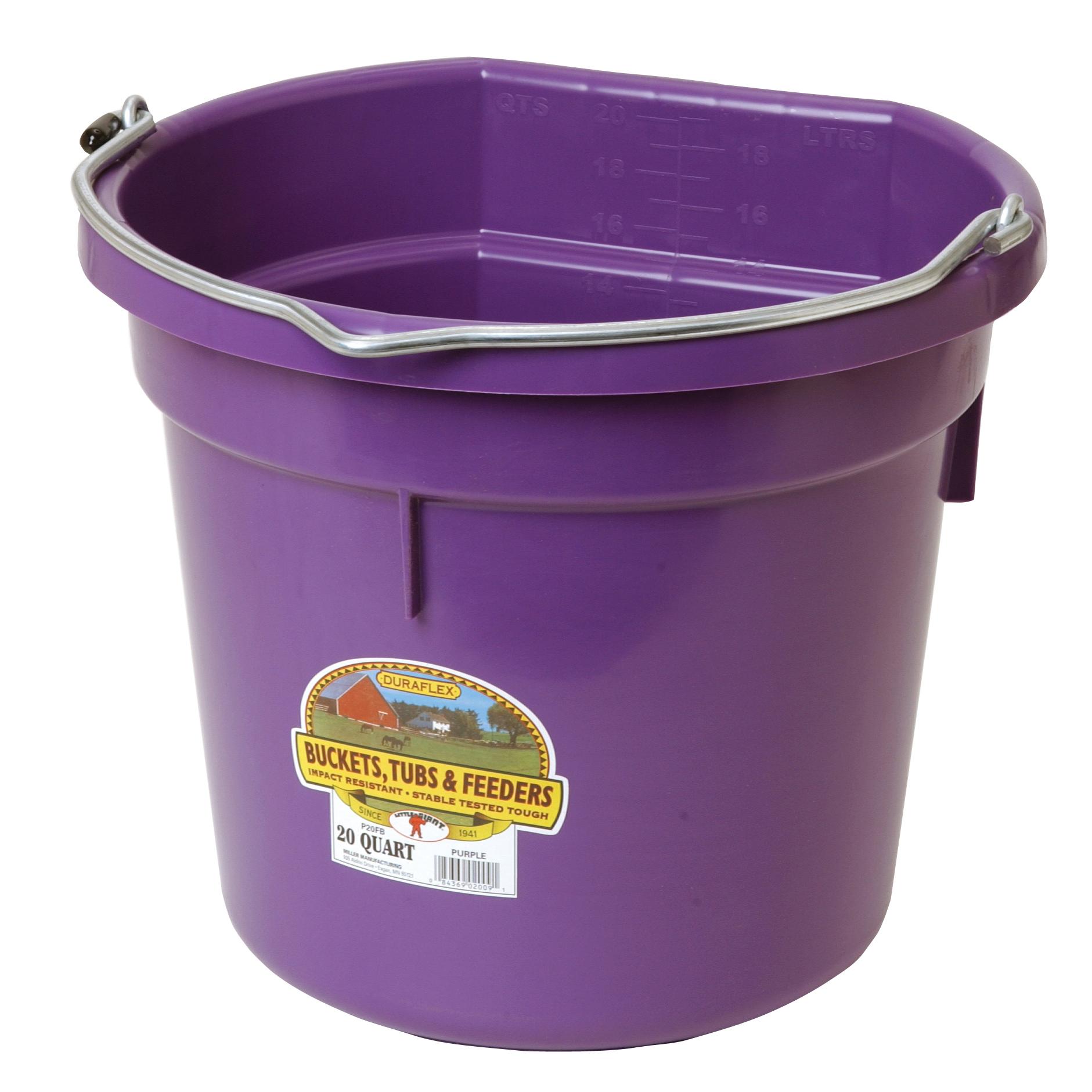 Details About Little Giant Bucket Flat Back 20 Quart Plastic MultiPurpose Farm Ranch Purple